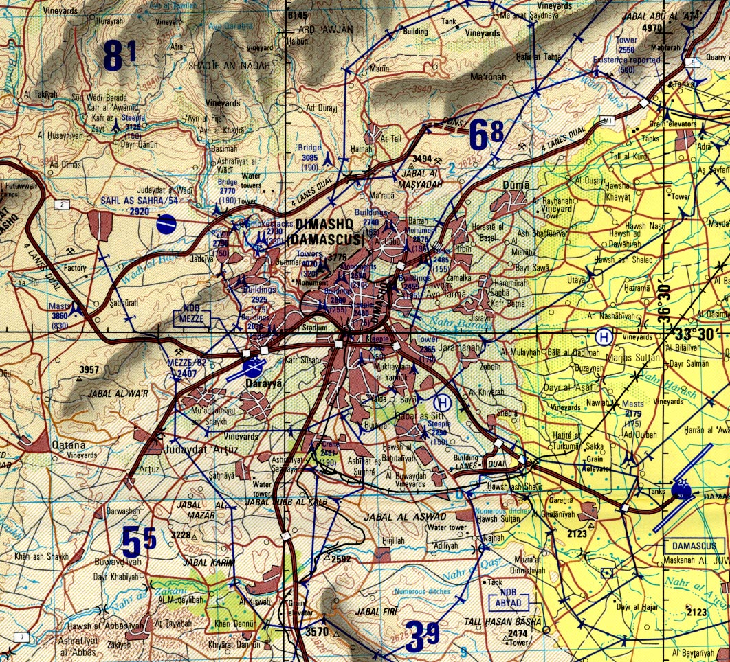 Syria Joint Operations Graphic - Perry-Castañeda Map Collection - UT ...