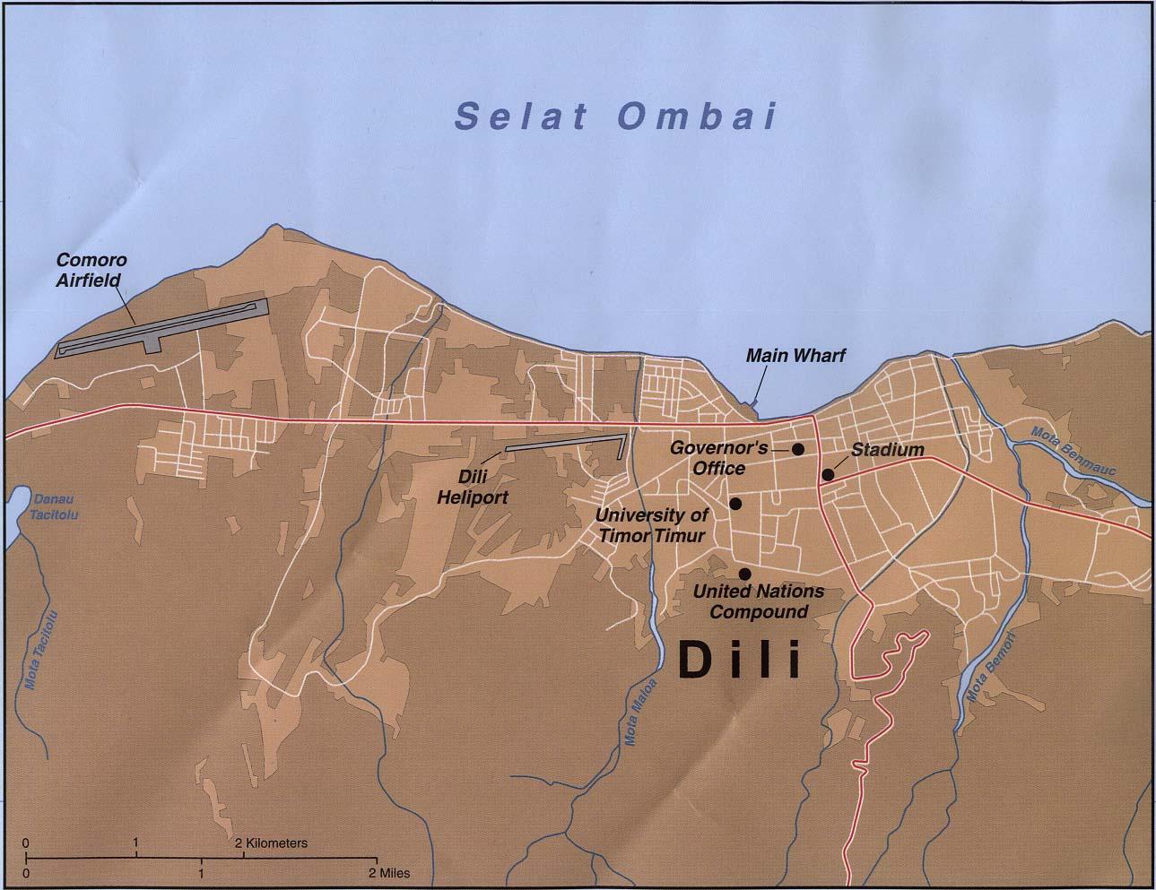 East Timor Maps PerryCastañeda Map Collection UT Library Online - East timor seetimor leste map vector