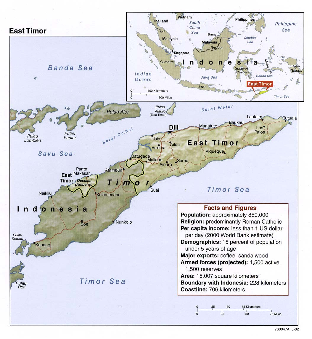 East Timor World Map