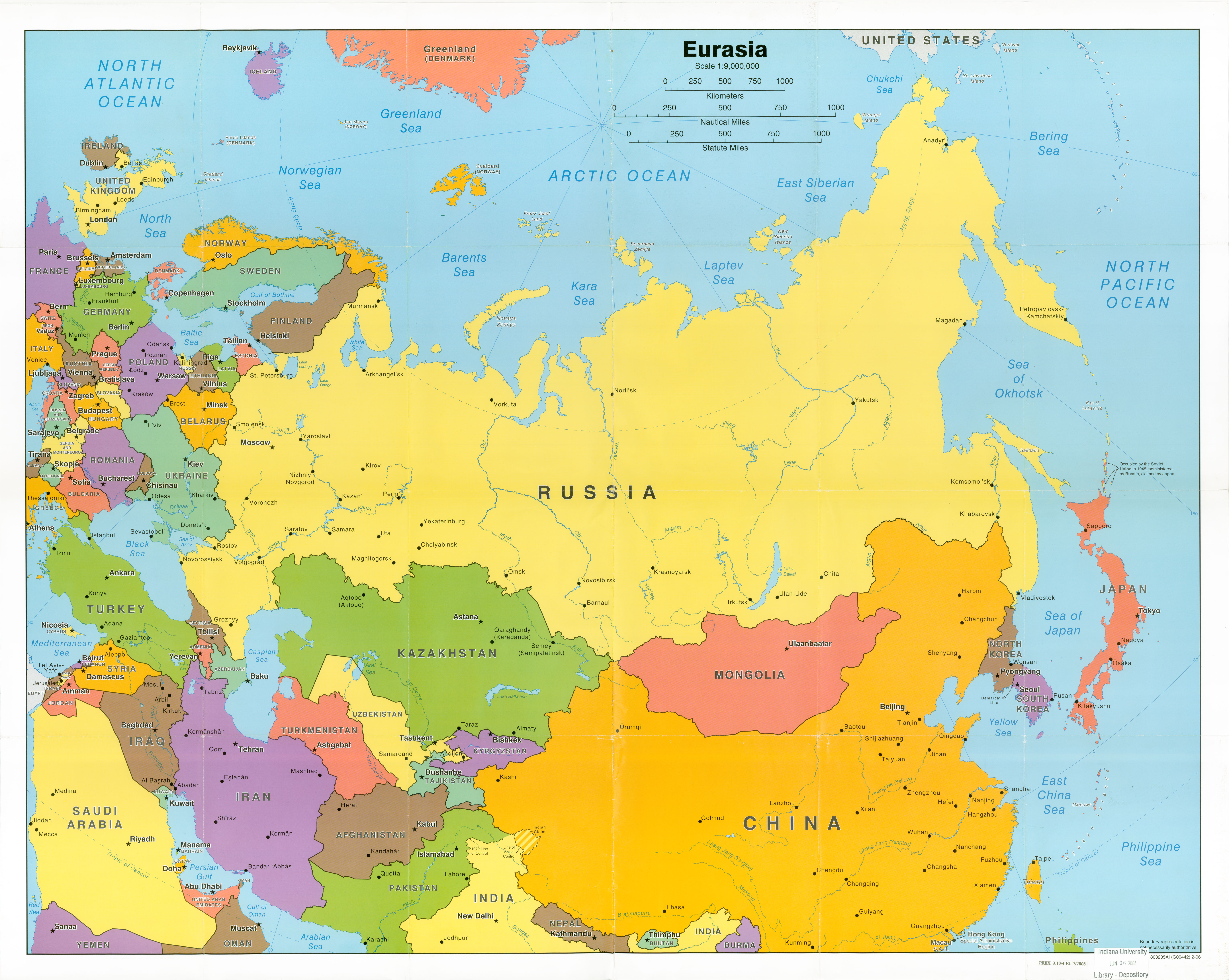 USD World Maps - World political map 2014