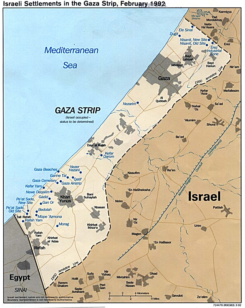 Is the gaza strip old cannan