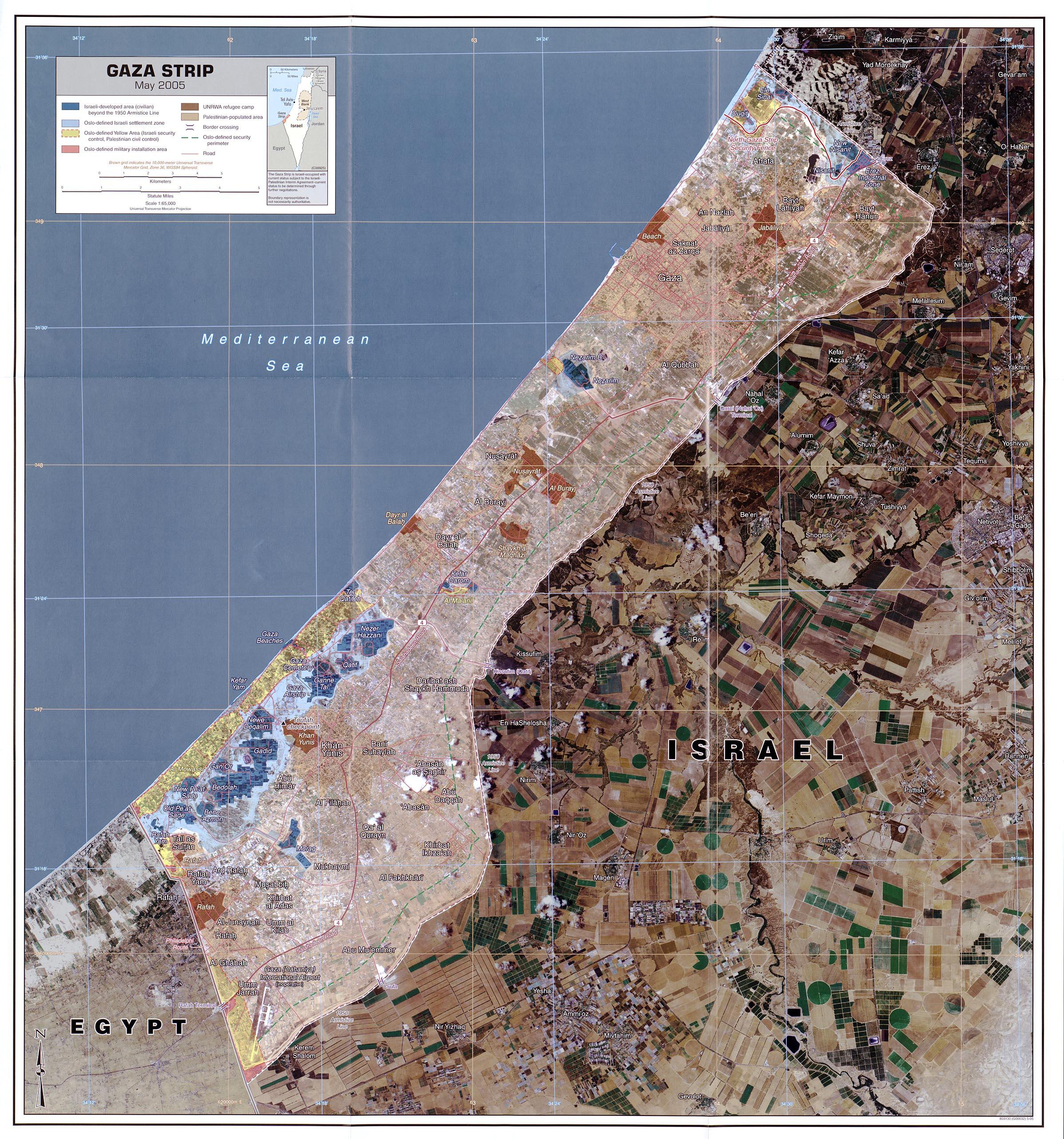 West Bank and Gaza Maps PerryCastaeda Map Collection UT