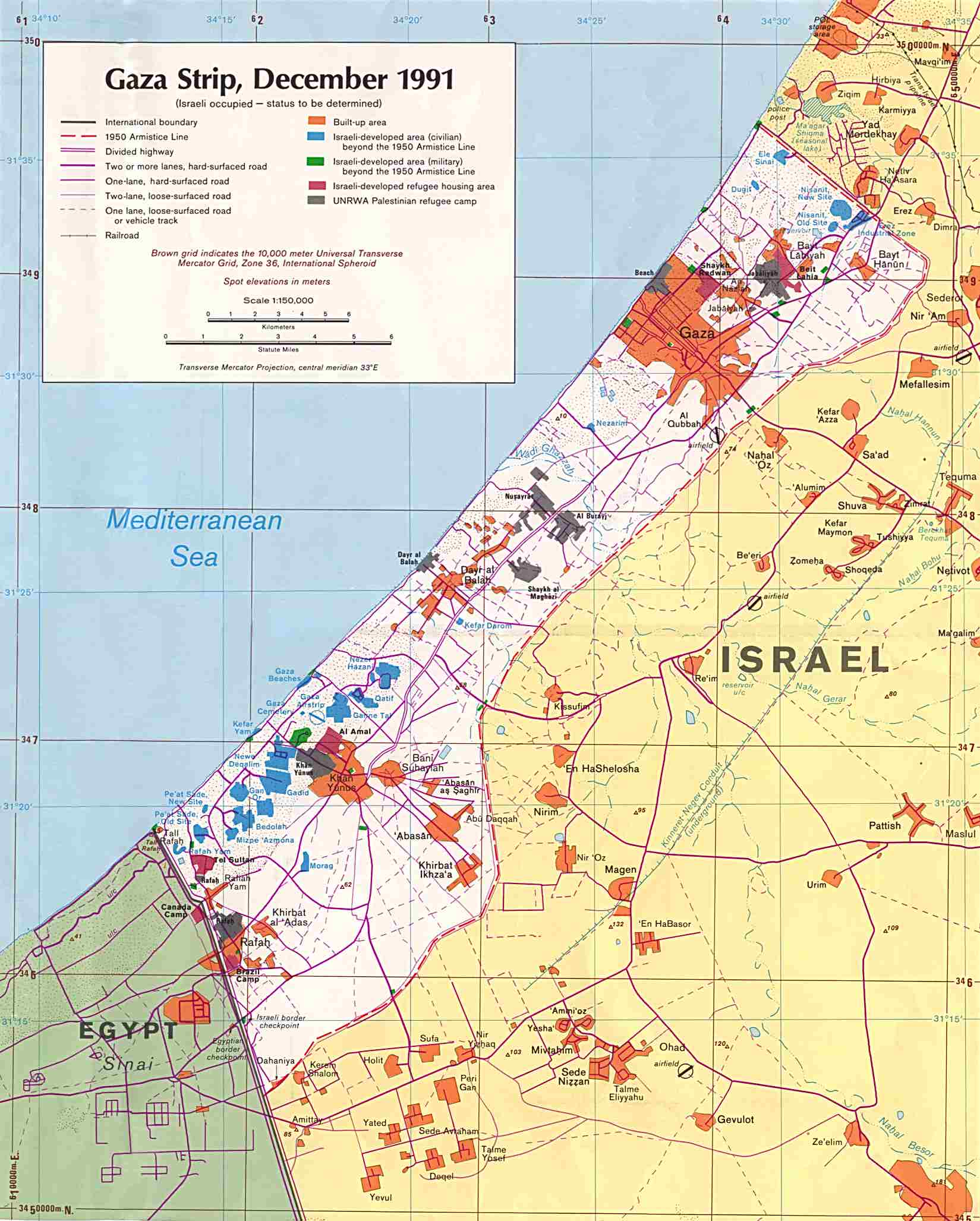 West Bank and Gaza Maps PerryCastaeda Map Collection UT