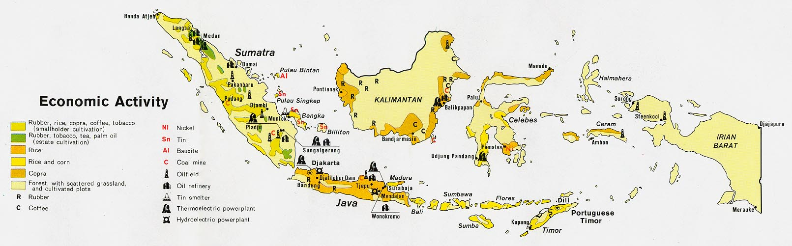 Indonesia maps perry castaeda map collection ut library online indonesia economic activity gumiabroncs Images