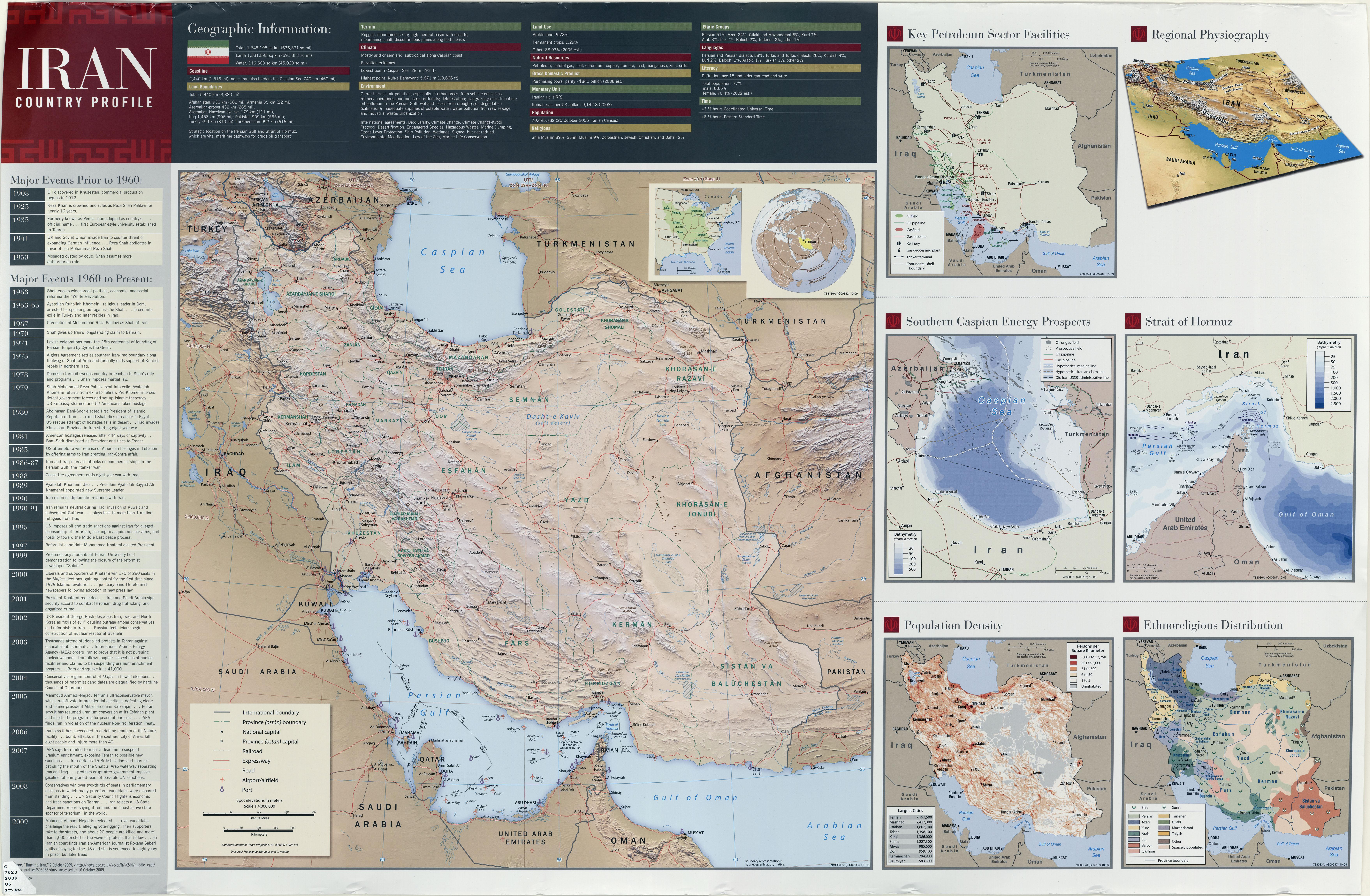 Iran Maps Iran Maps Perry Castaeda Map