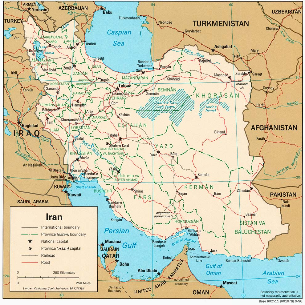 Iran On Map Of World.Iran Maps Perry Castaneda Map Collection Ut Library Online
