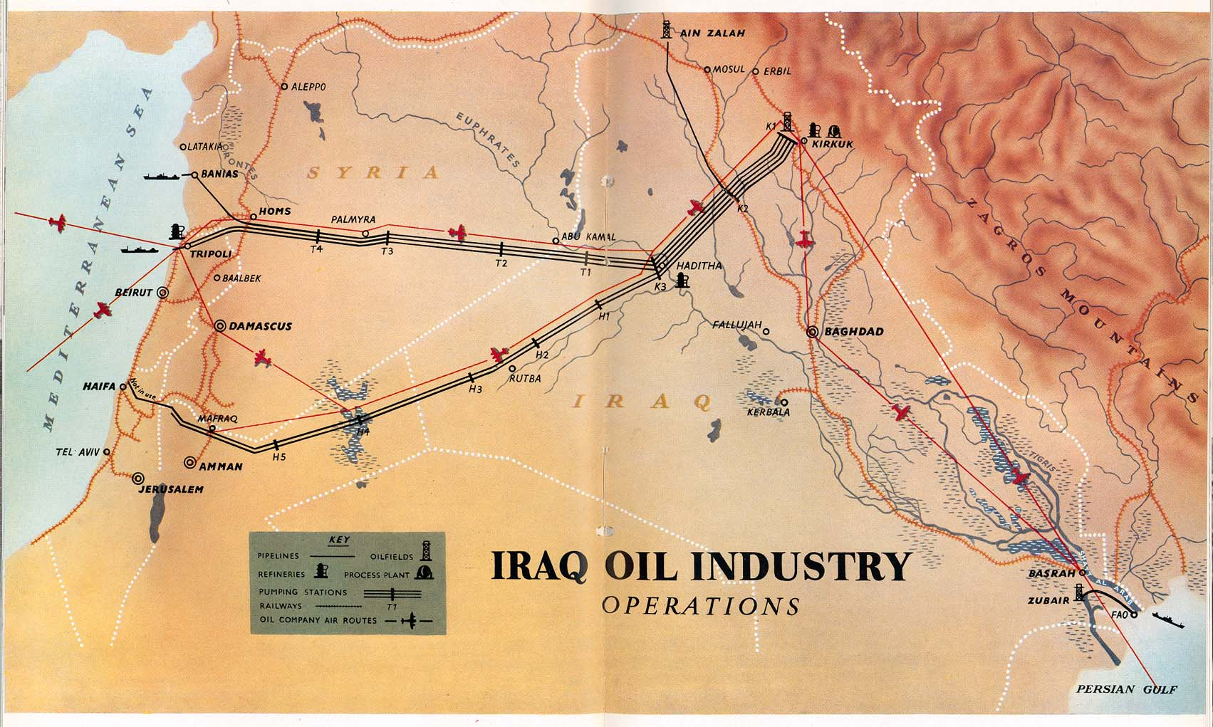 Iraq Maps PerryCasta eda Map Collection UT Library Online – Map of Iraqi Oil Fields