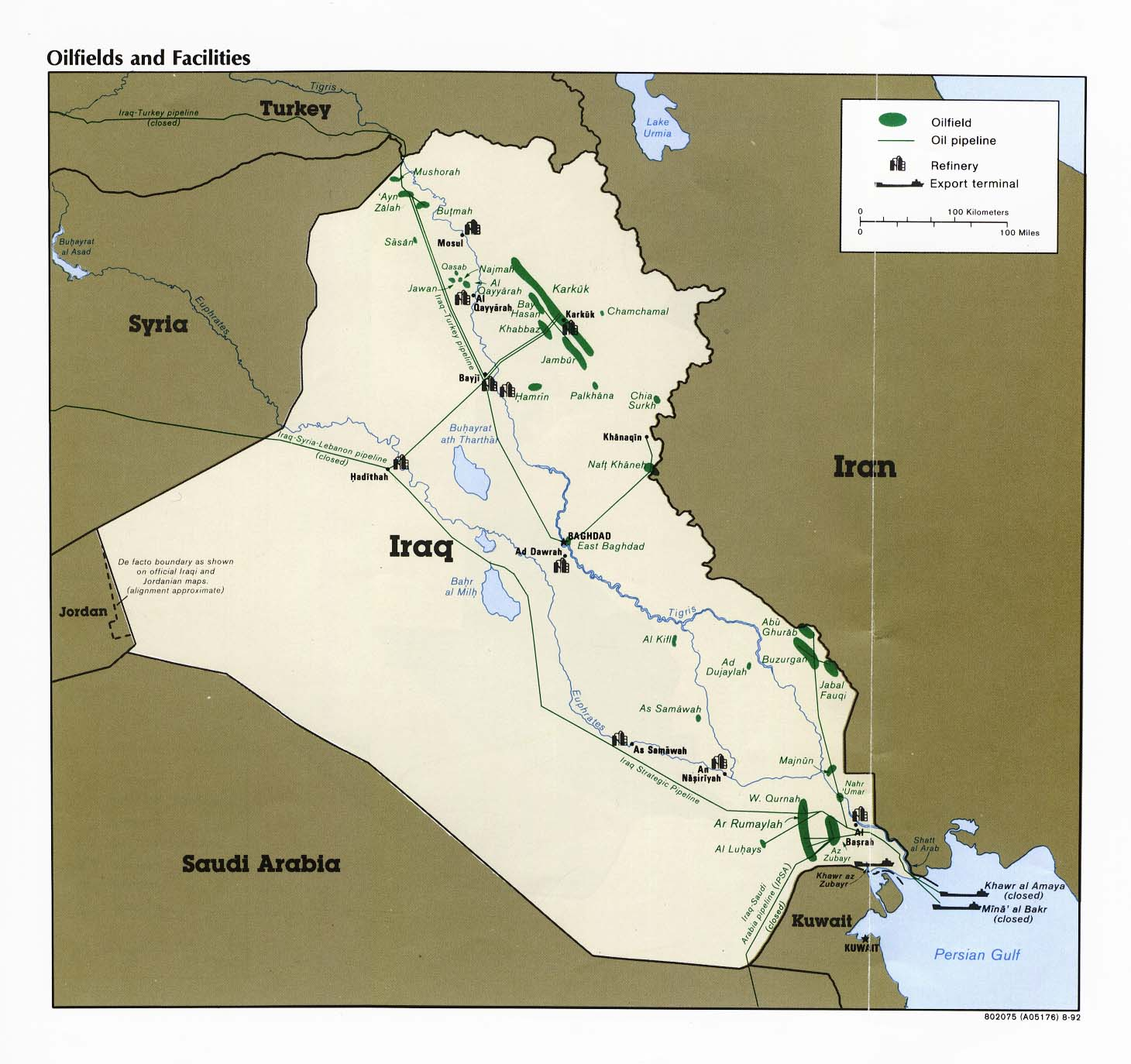 Map of Iraq - The Middle East - Information