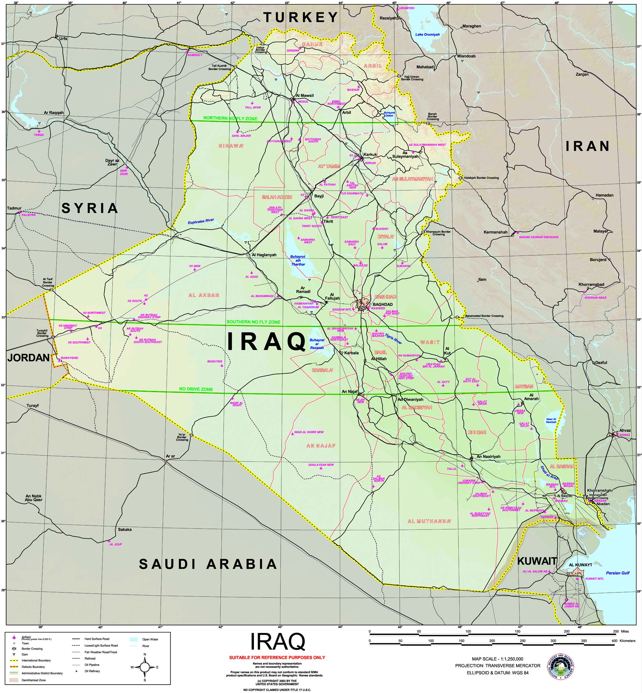 Iraq Maps PerryCastañeda Map Collection UT Library Online - Baghdad map world