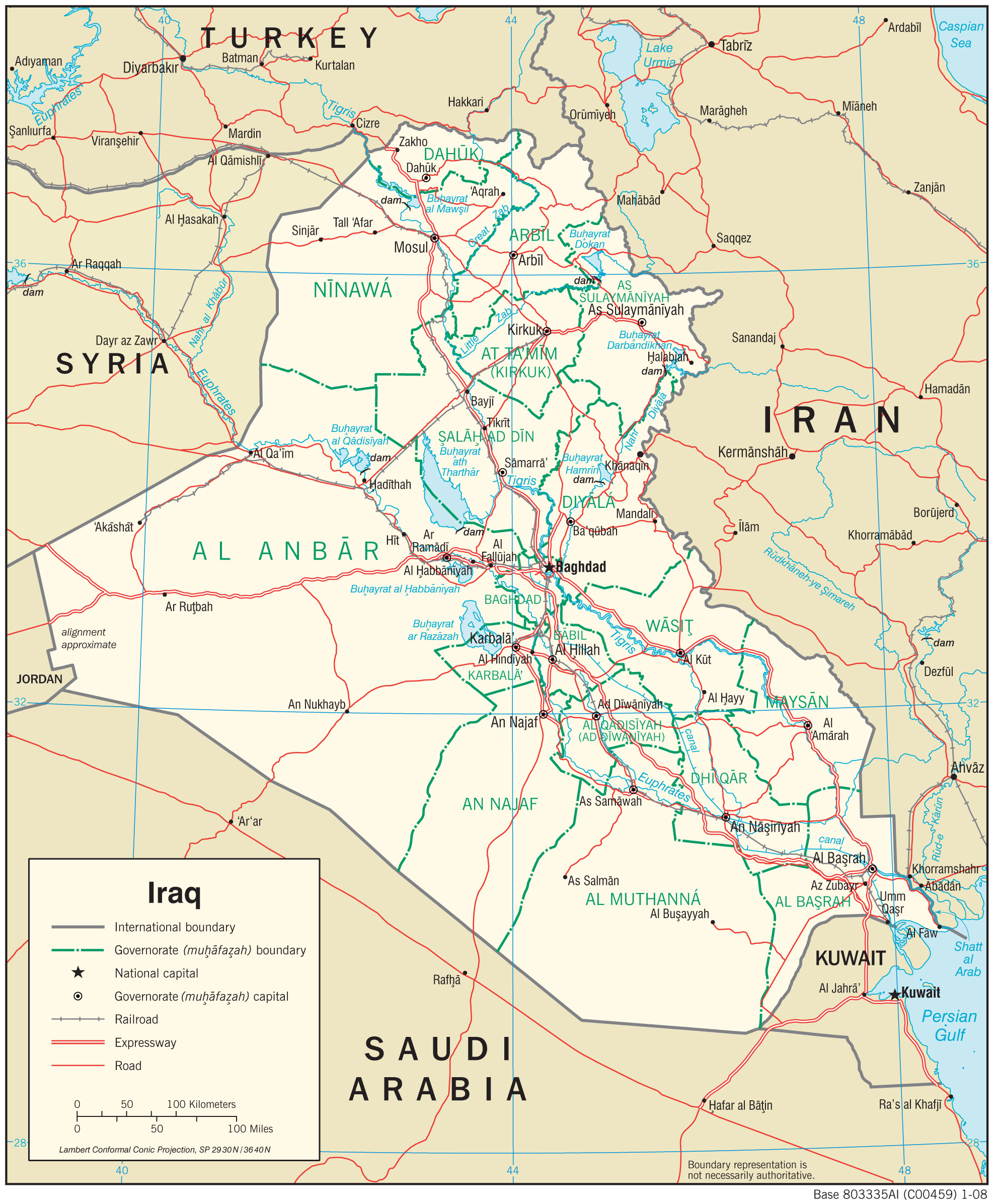 Iraq Maps - Perry-Castañeda Map Collection - UT Library Online MAP OF IRAQ