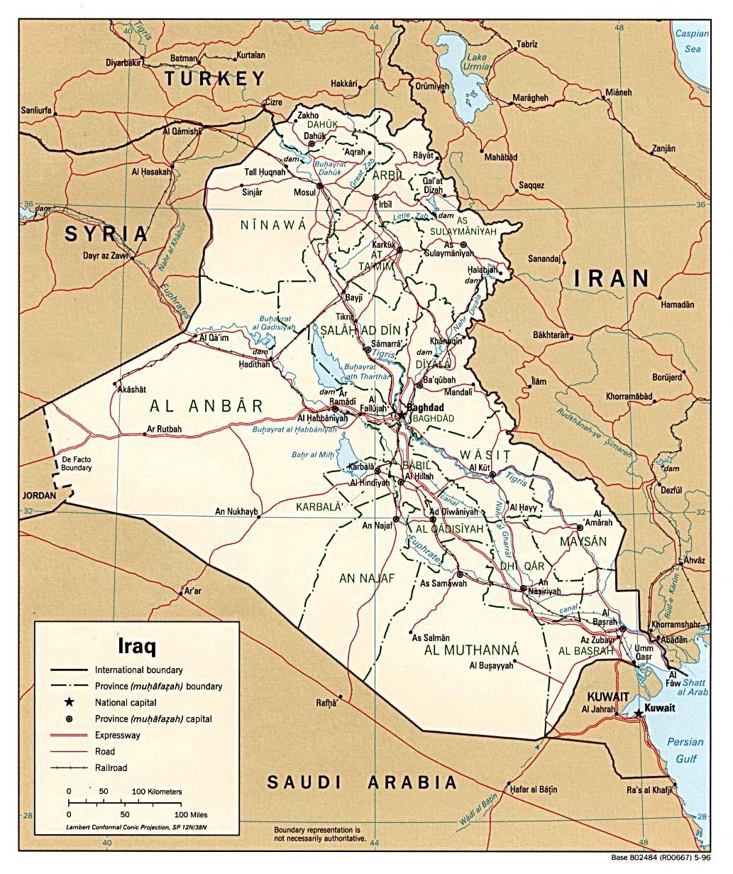 Iraq Maps PerryCasta eda Map Collection UT Library Online – Mapa De Iraq