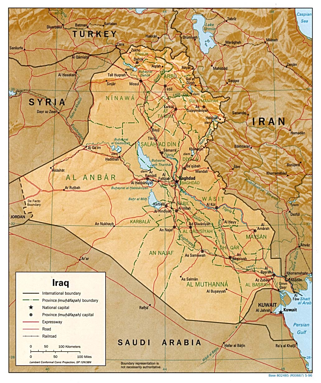 Iraq Maps PerryCastañeda Map Collection UT Library Online - Map of iraq