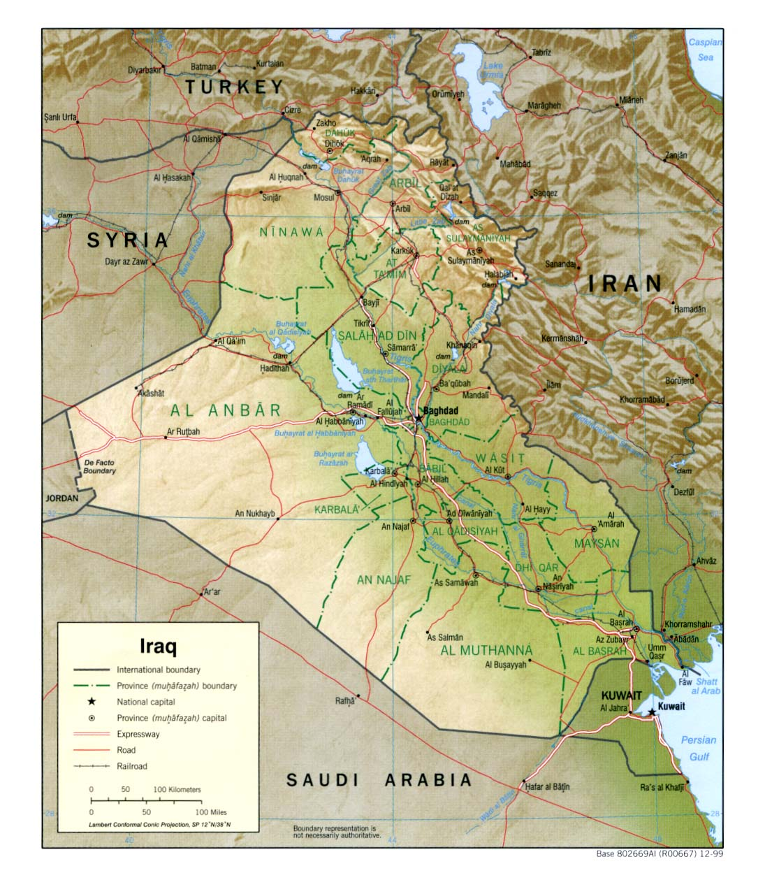 Iraq map, travel information, tourism & hotels Iraq Travel Maps