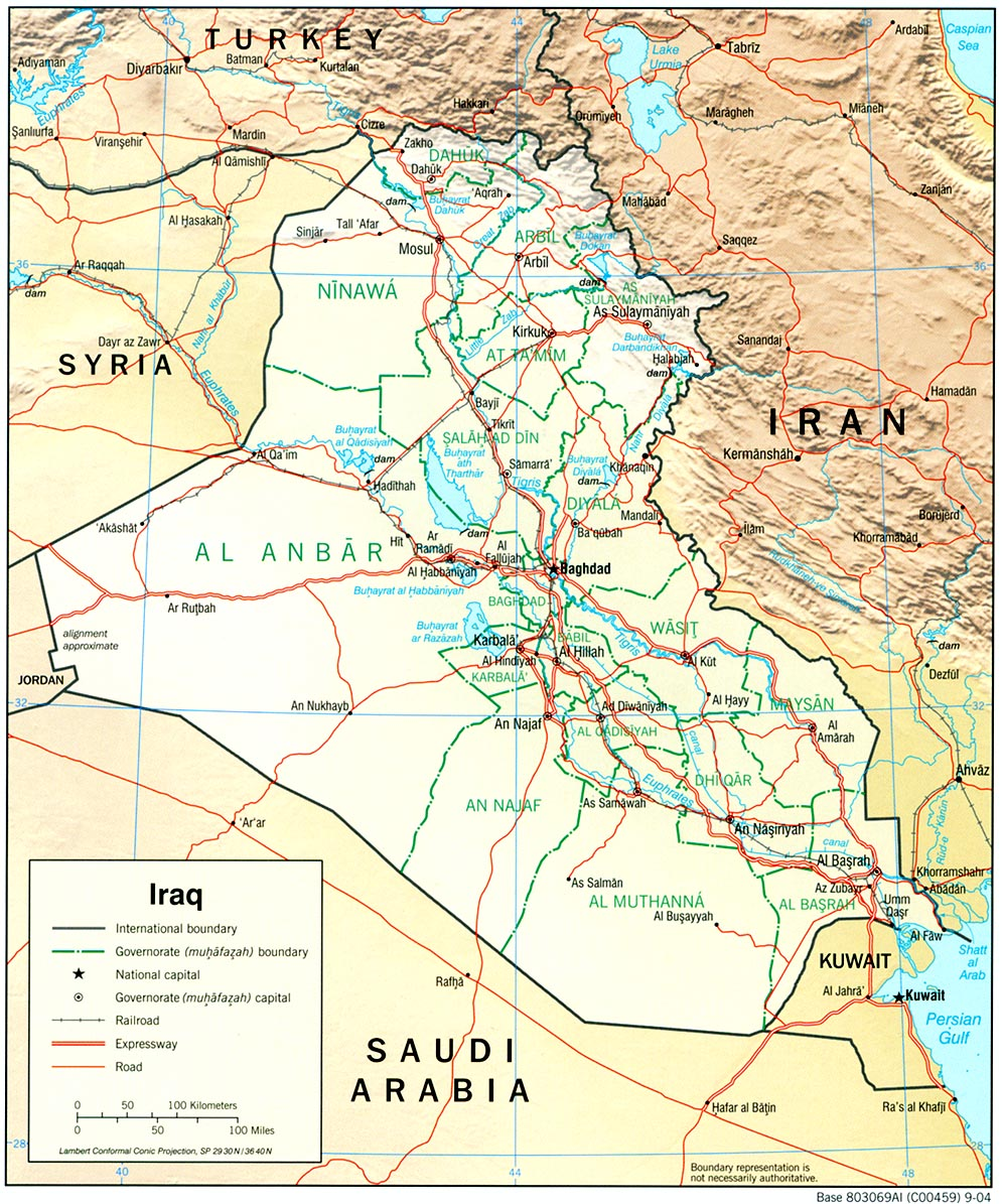 Iraq maps perry castaeda map collection ut library online iraq maps gumiabroncs Image collections