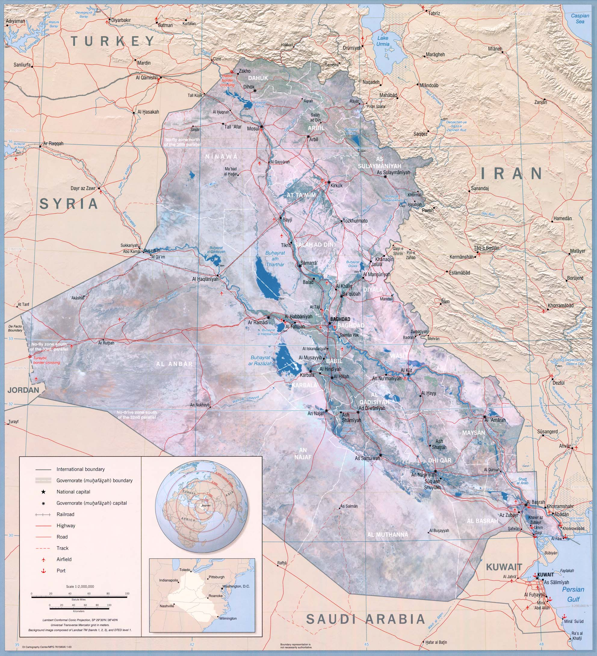 Iraq Maps Perry Casta 241 Eda Map Collection Ut Library