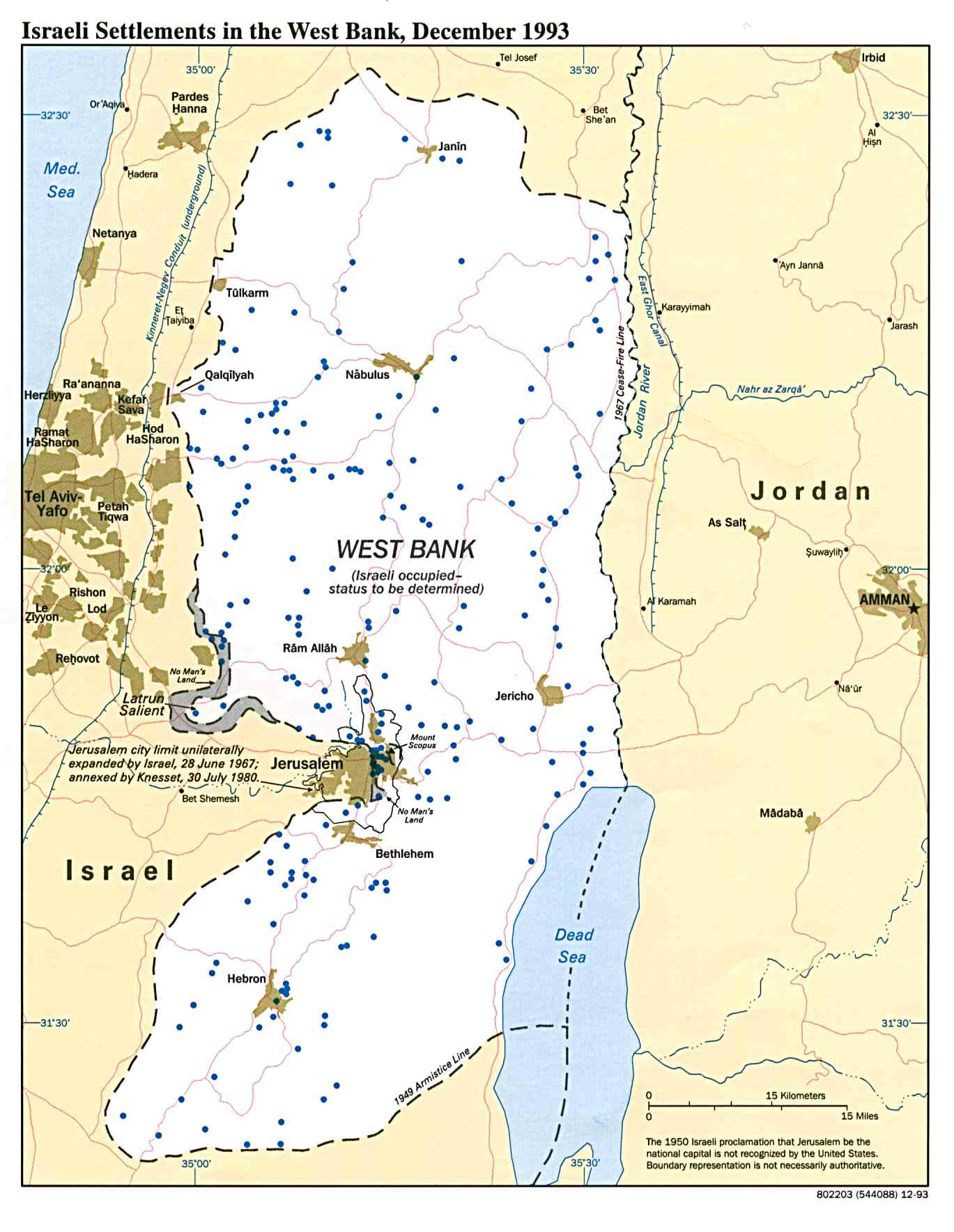 Israel maps perry castaeda map collection ut library online israeli settlements in the west bank gumiabroncs Choice Image