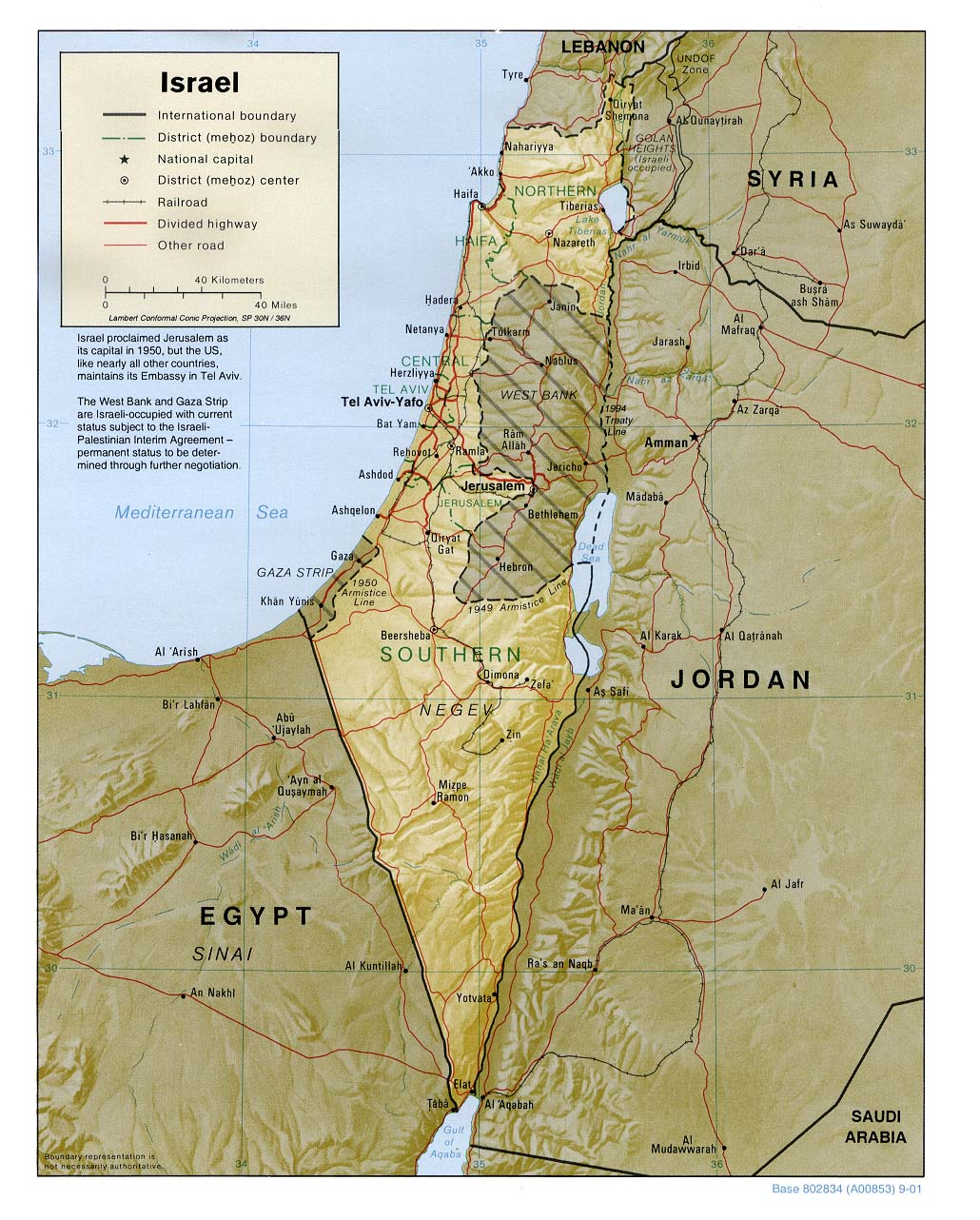 Maps Of Israel - Maps of israel