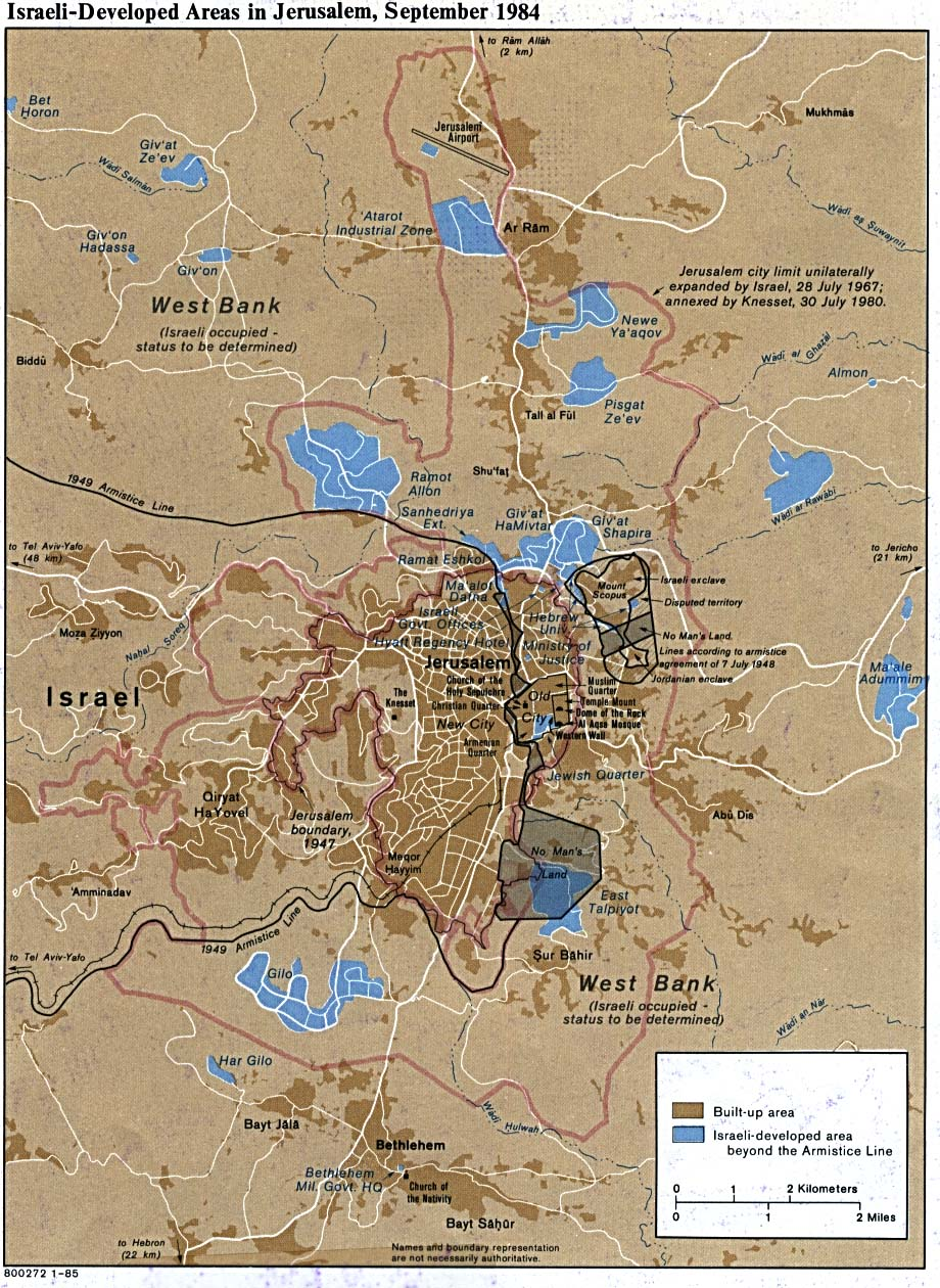 Israel maps perry castaeda map collection ut library online jerusalem israeli developed areas in gumiabroncs Choice Image
