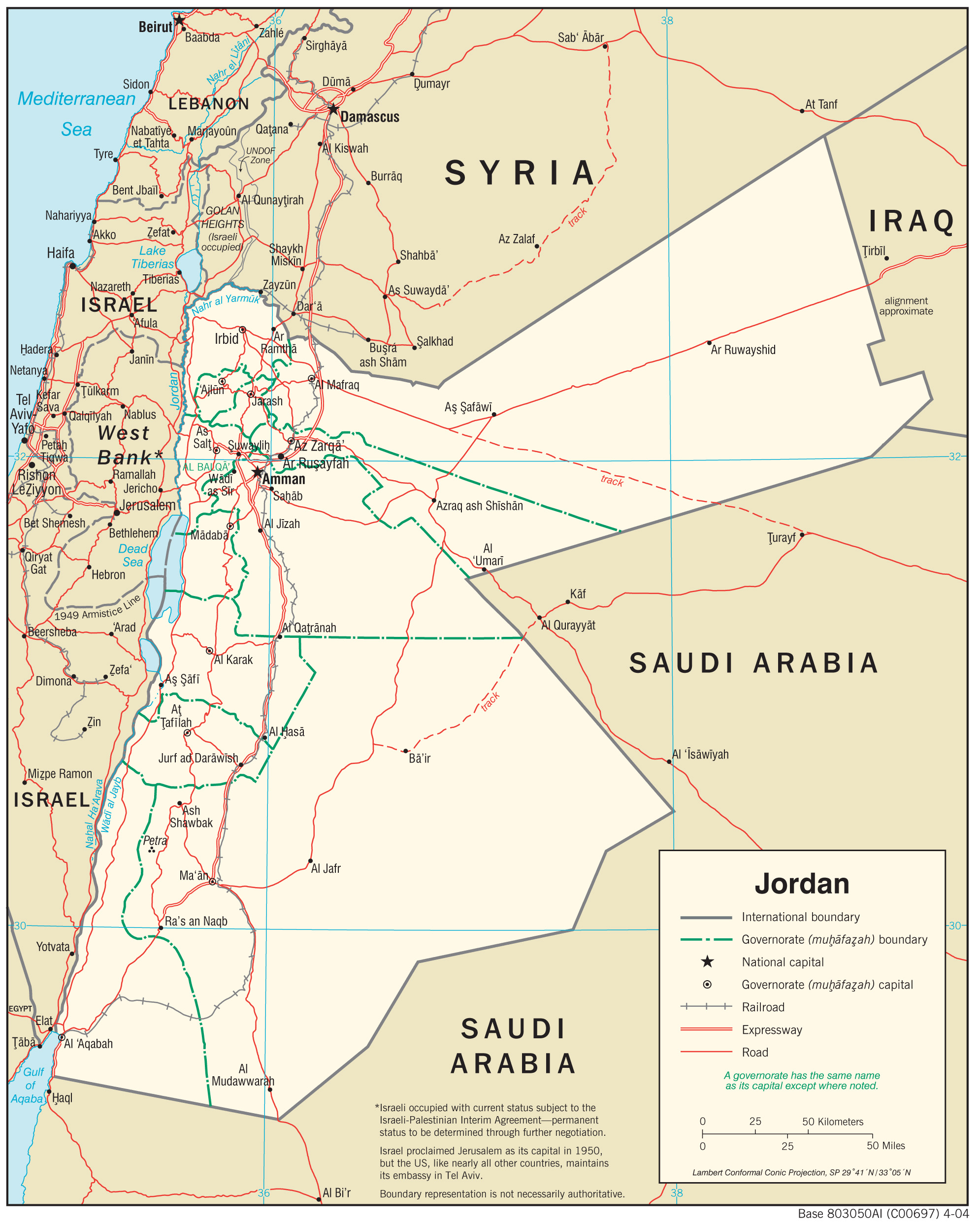 Map Of Jordan Jordan Maps   Perry Castañeda Map Collection   UT Library Online Map Of Jordan