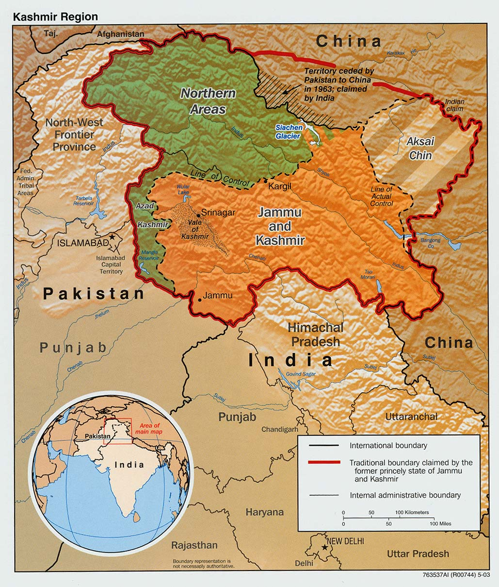 Kashmir Maps - Perry-Castañeda Map Collection - UT Library ...