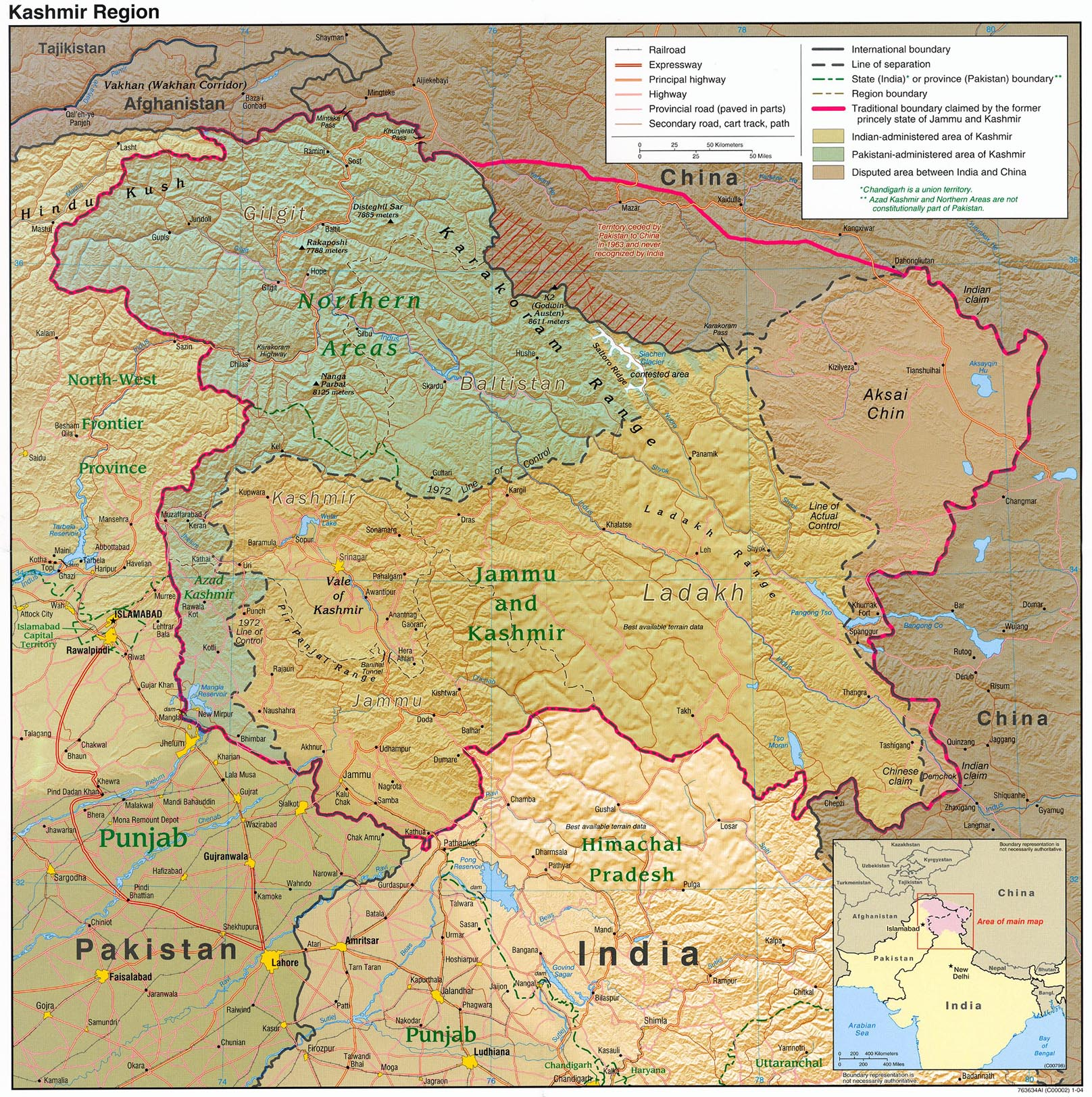 Kashmir maps perry castaeda map collection ut library online map collection gumiabroncs Gallery
