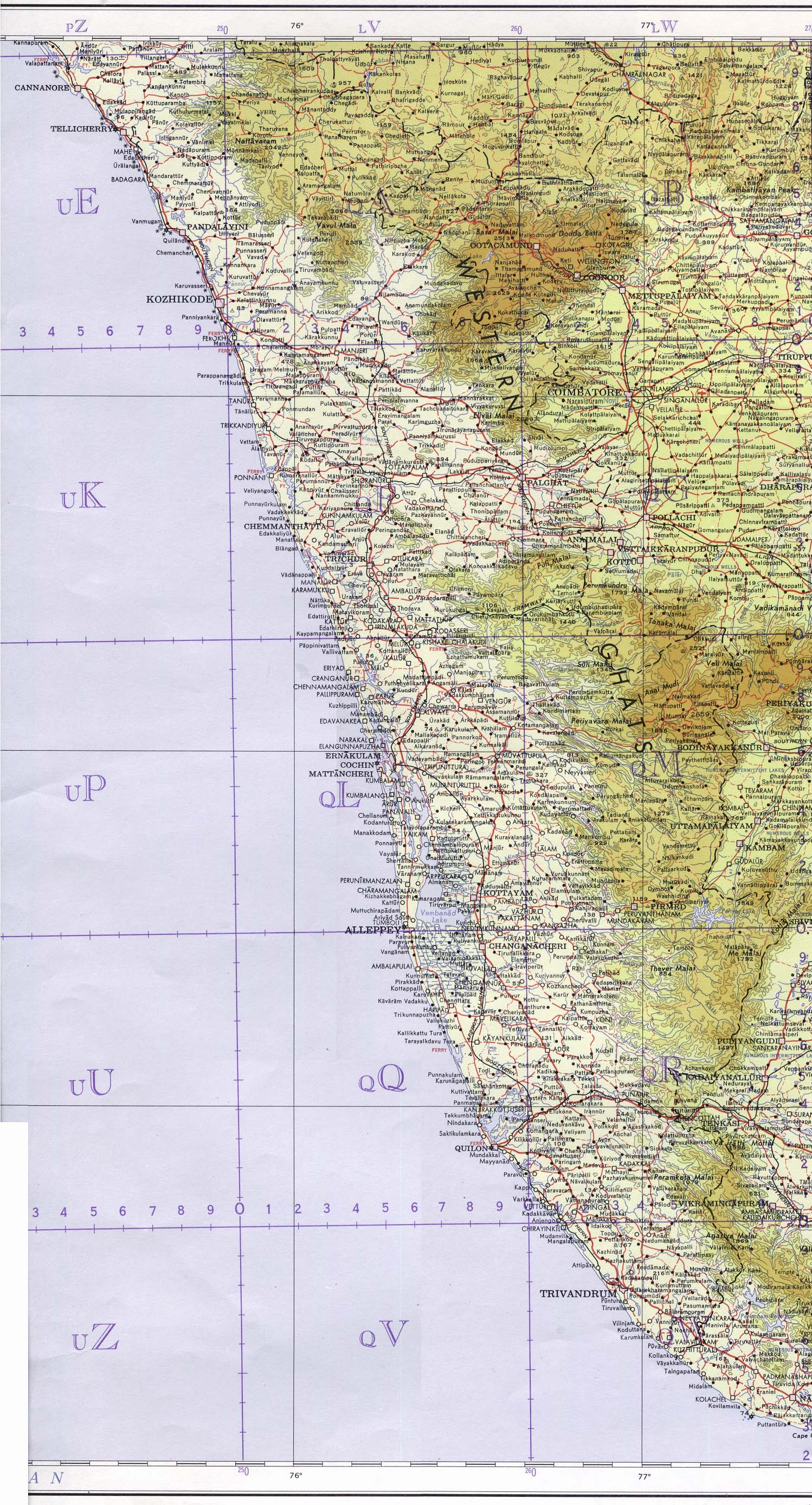 India maps perry castaeda map collection ut library online kerala state gumiabroncs Gallery