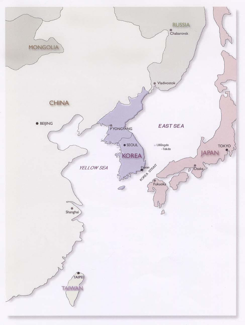 korean peninsula location map