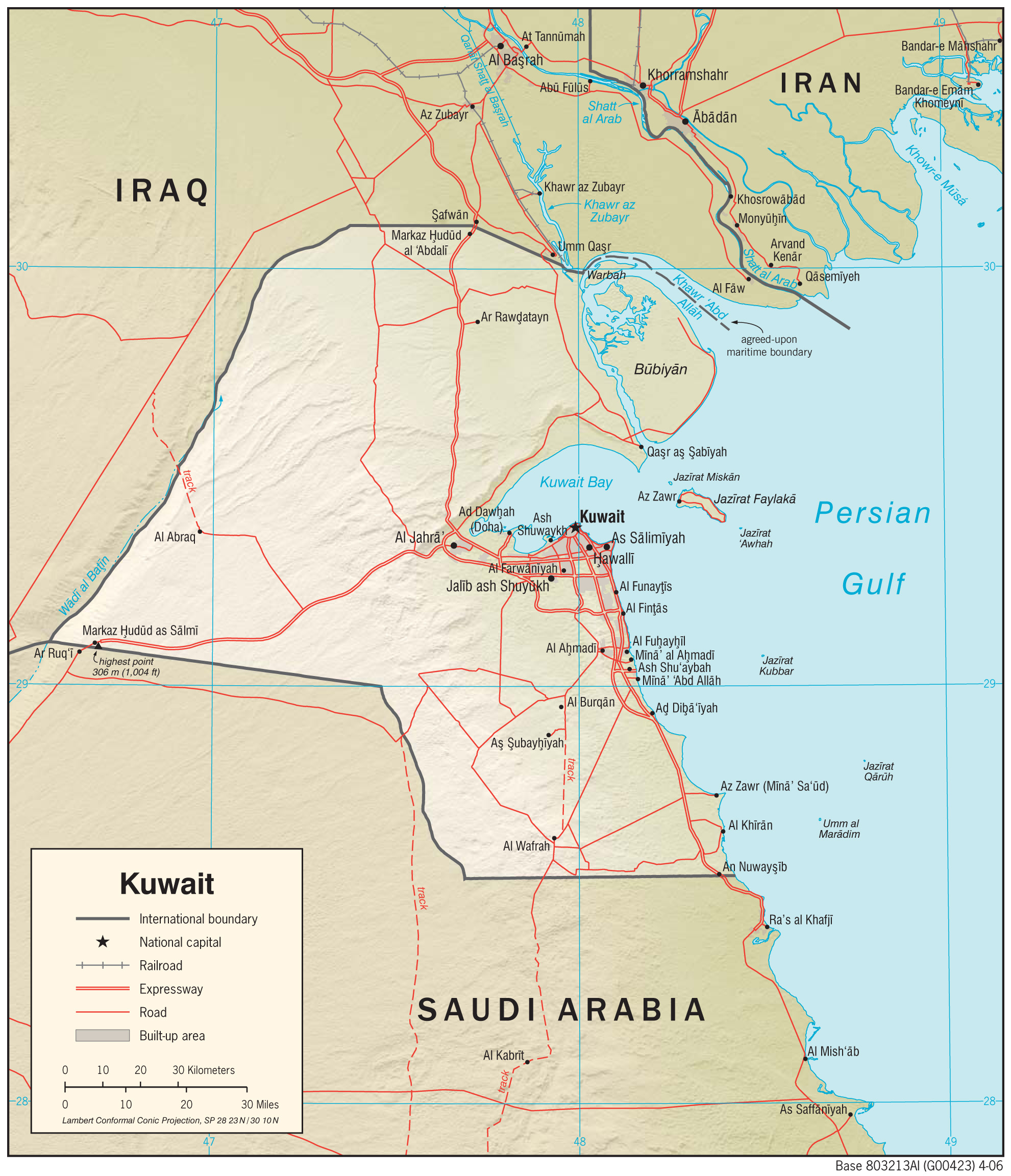 Kuwait Maps Perry Casta 241 Eda Map Collection Ut Library