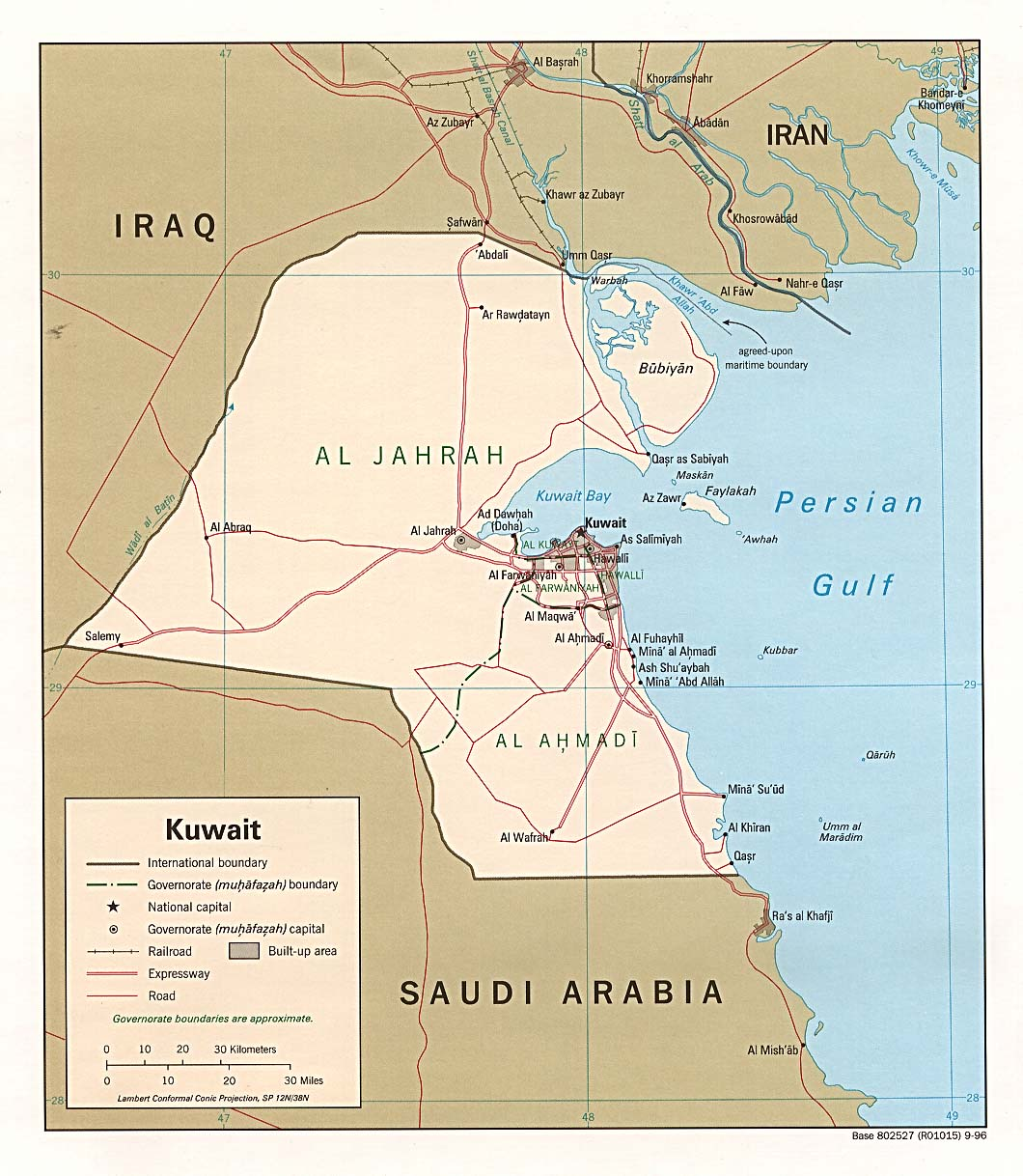 World Map Kuwait
