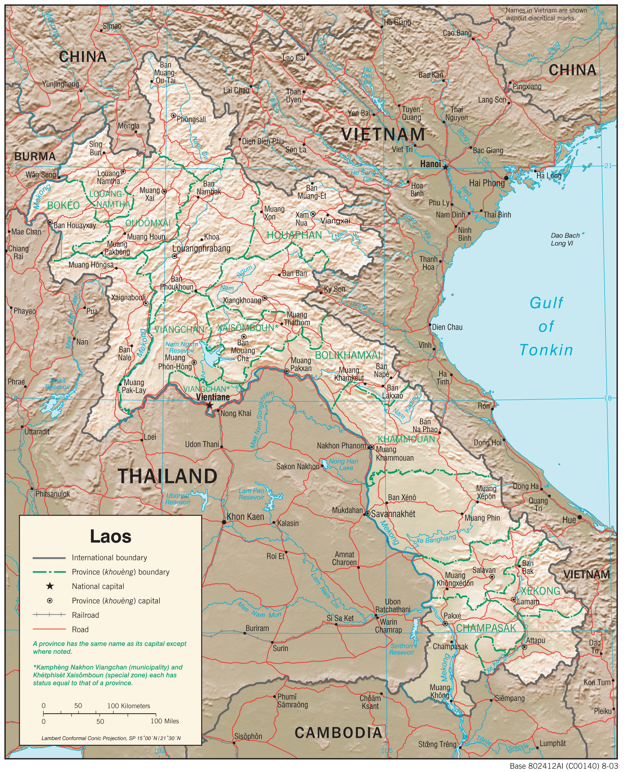 Laos Maps PerryCastañeda Map Collection UT Library Online - Laos map