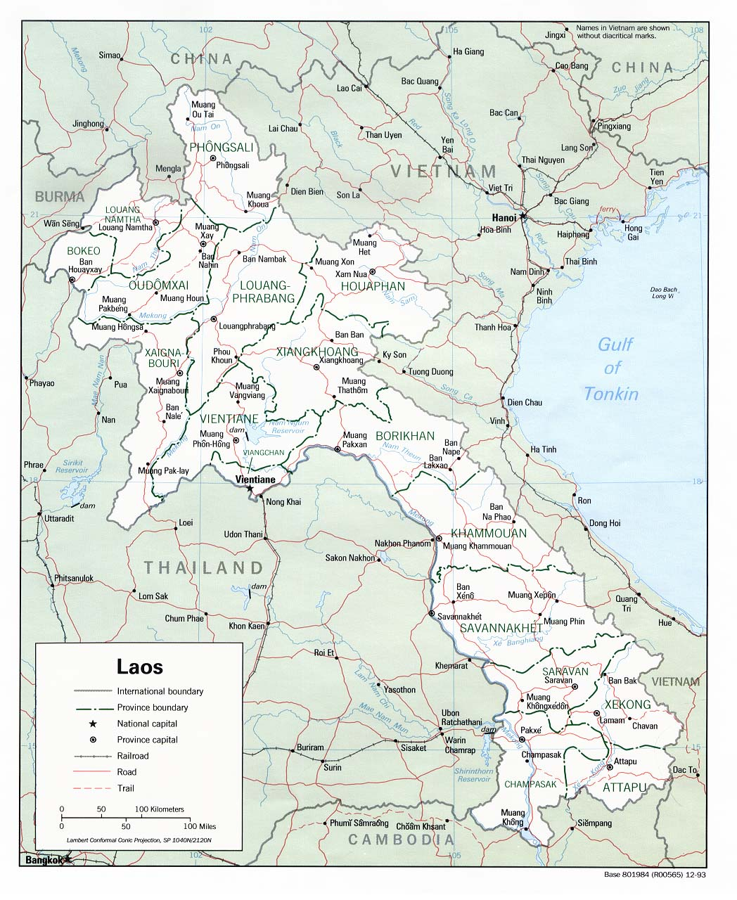 Laos Maps PerryCastaeda Map Collection UT Library Online
