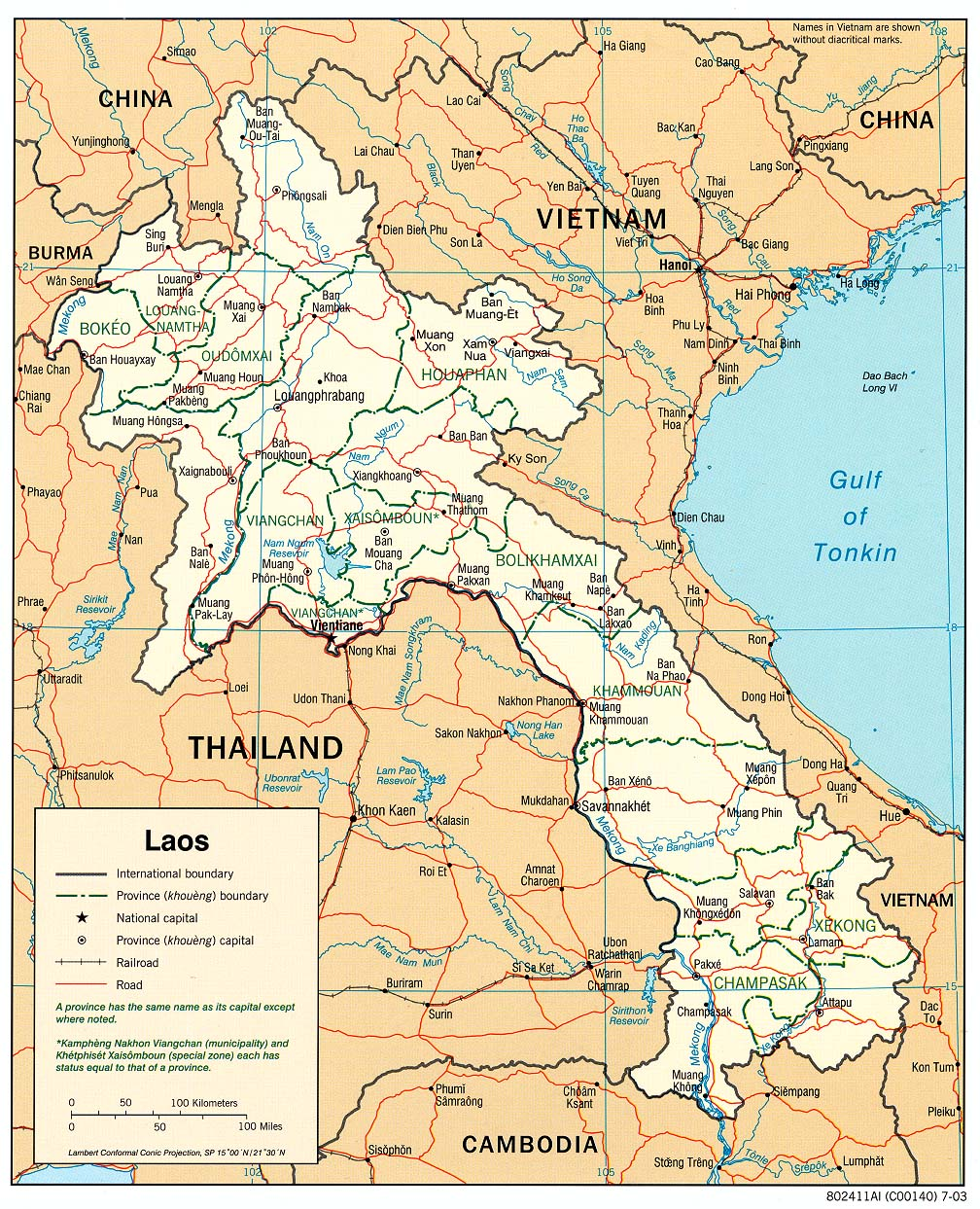 Laos Maps - Perry-Castañeda Map Collection - UT Library Online