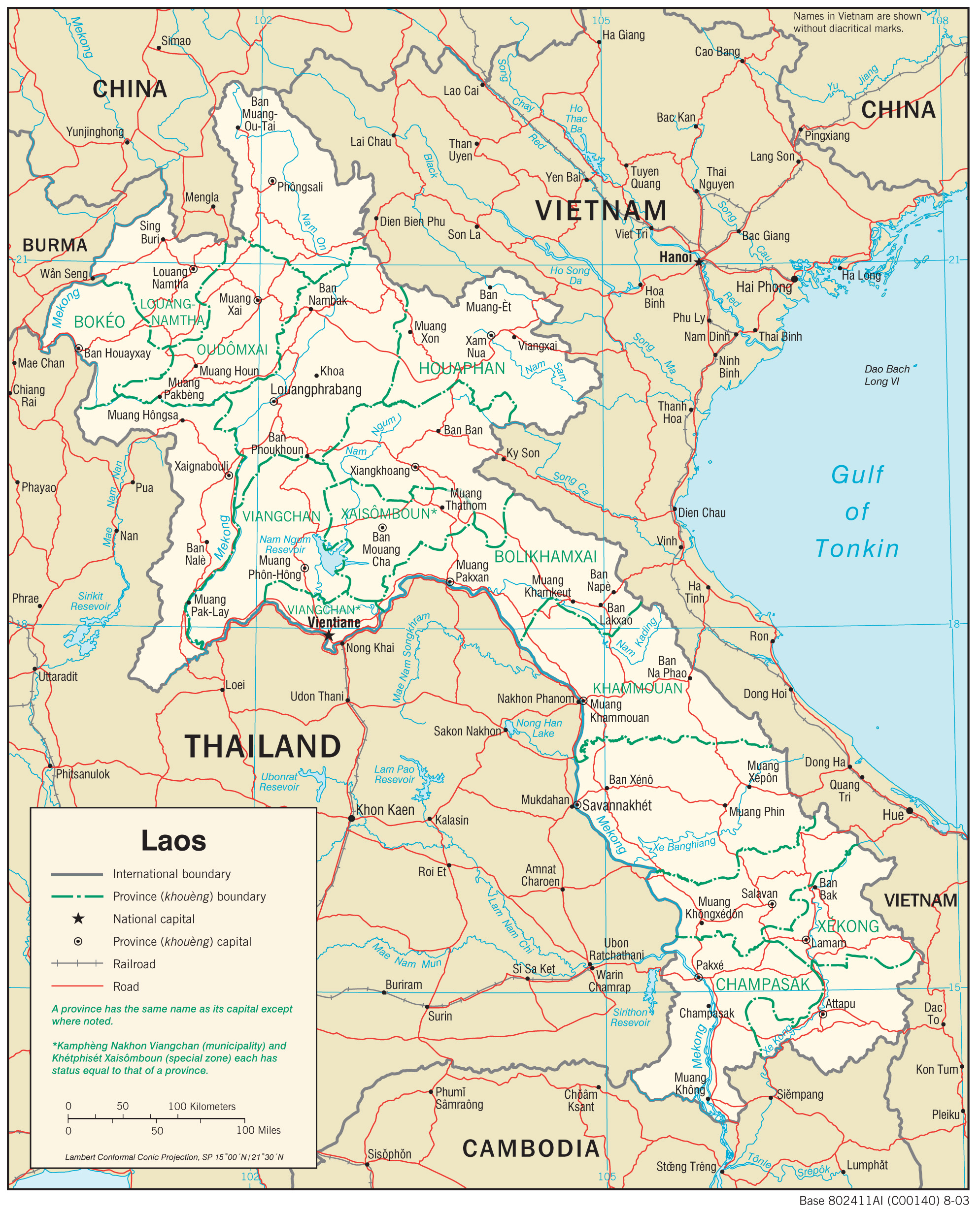 Map Of Laos Laos Maps   Perry Castañeda Map Collection   UT Library Online Map Of Laos