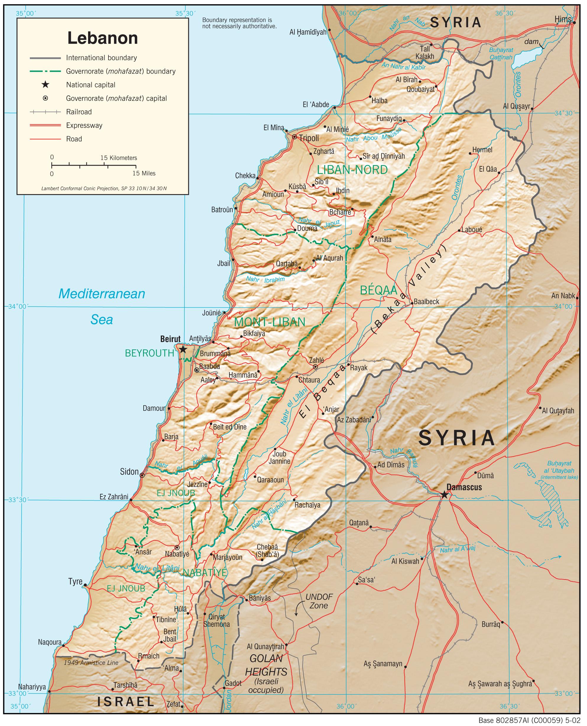 Lebanon Map Pdf
