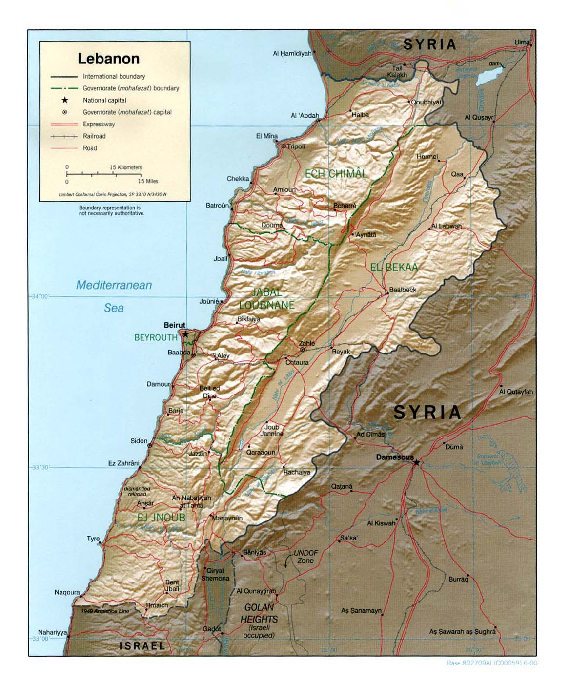 Lebanon maps perry castaeda map collection ut library online lebanon maps gumiabroncs Images