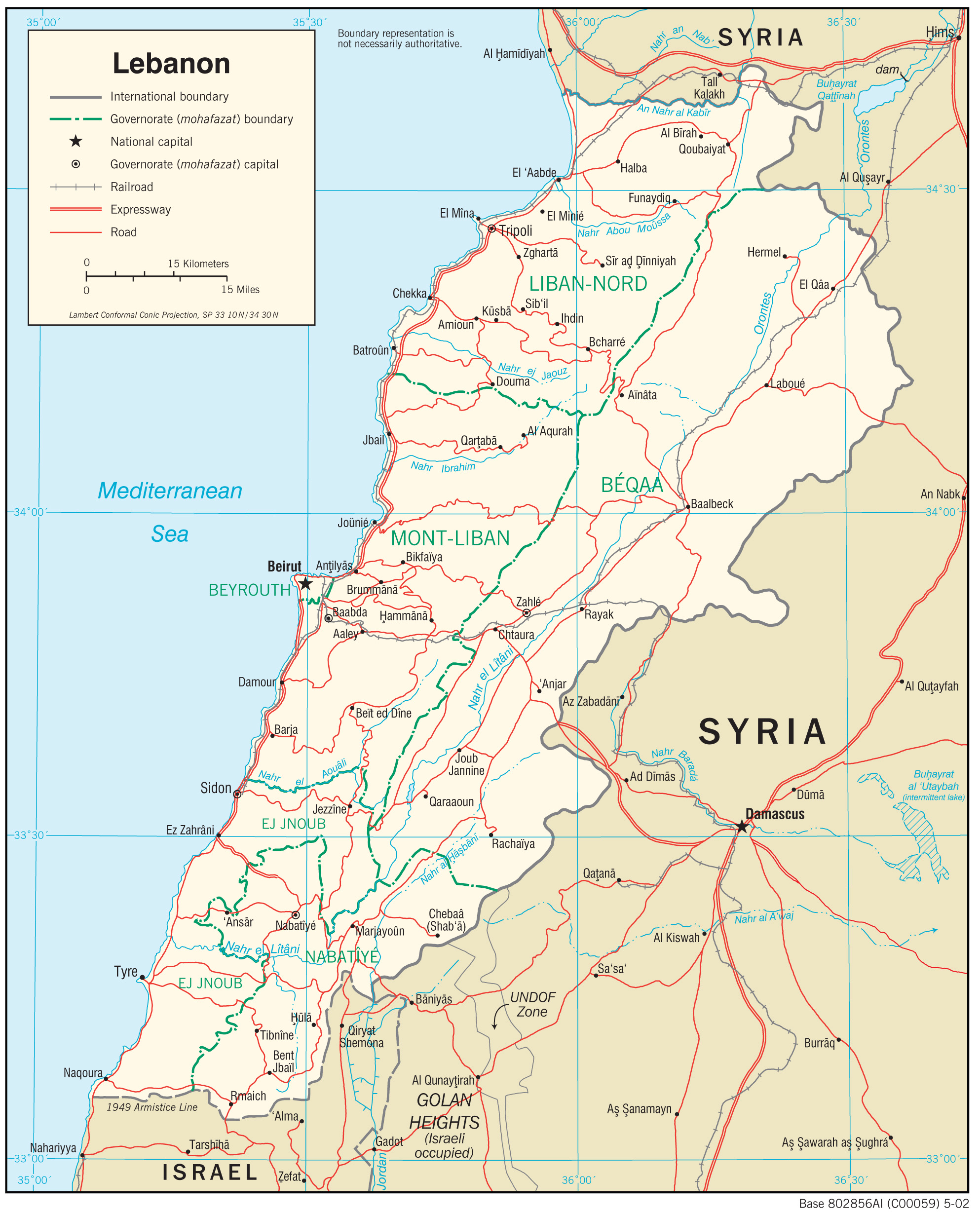 liban mapa Lebanon Maps   Perry Castañeda Map Collection   UT Library Online liban mapa