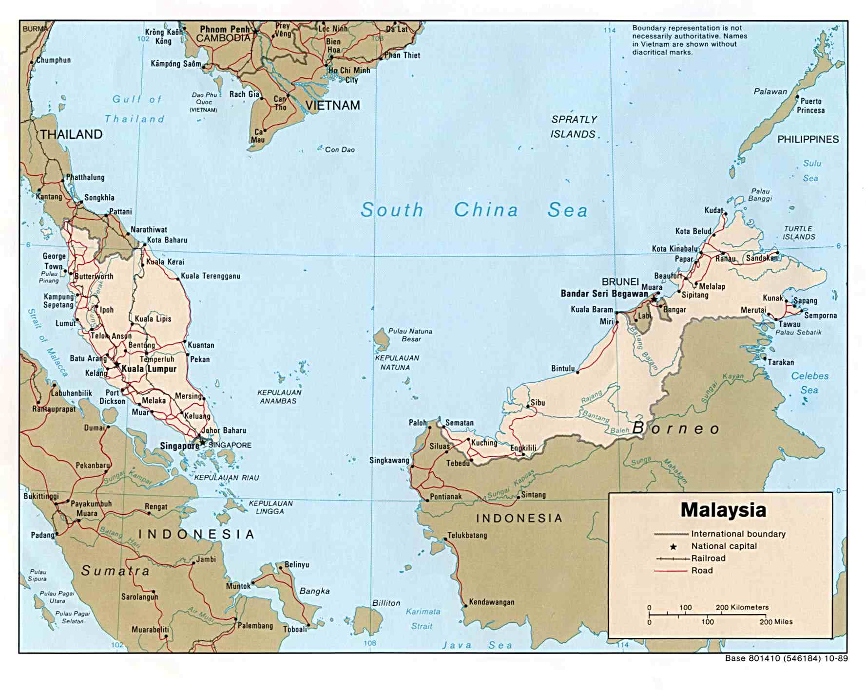 Malaysia map by the university of texas libraries