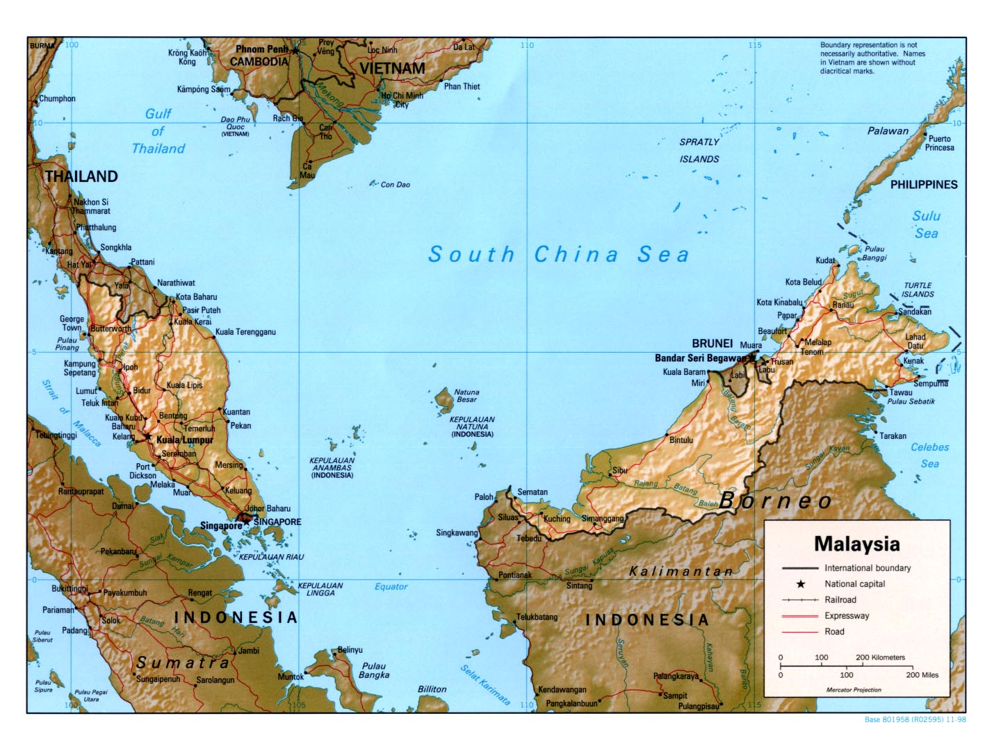 Malaysia maps perry castaeda map collection ut library online malaysia maps gumiabroncs Choice Image