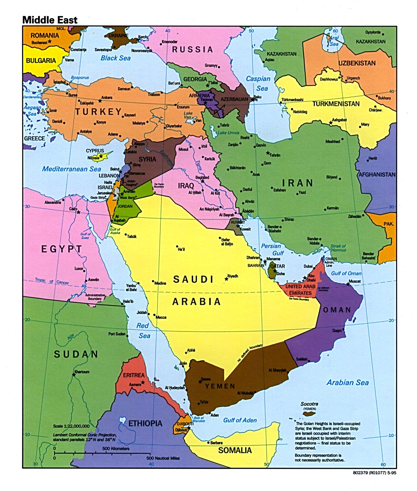 Map Of Middle Eastern Countries Middle East Maps   Perry Castañeda Map Collection   UT Library Online