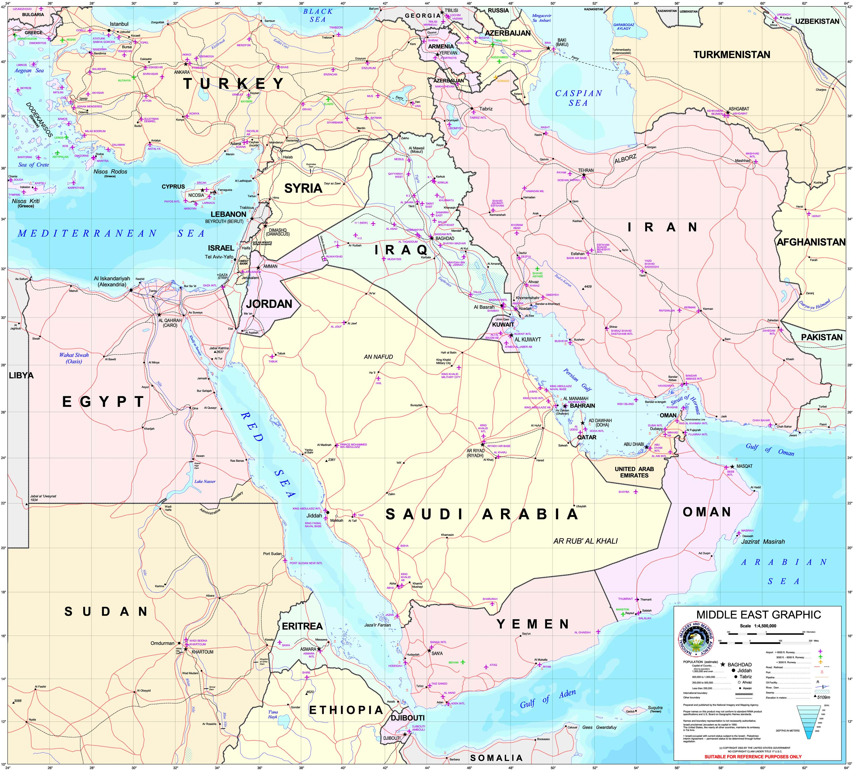 Middle east maps perry castaeda map collection ut library online middle east gumiabroncs Gallery