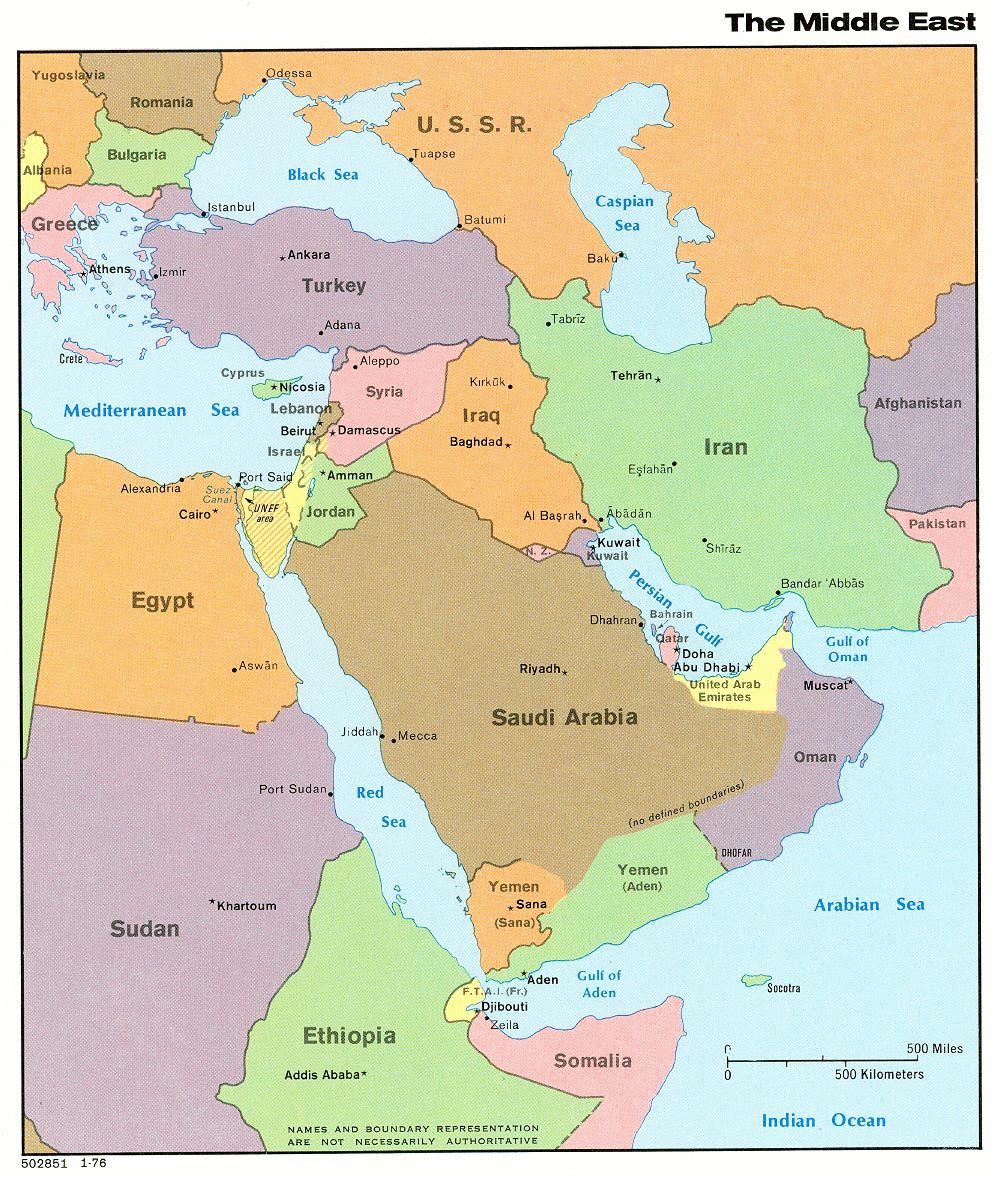 This is a graphic of Eloquent Printable Map of Middle East