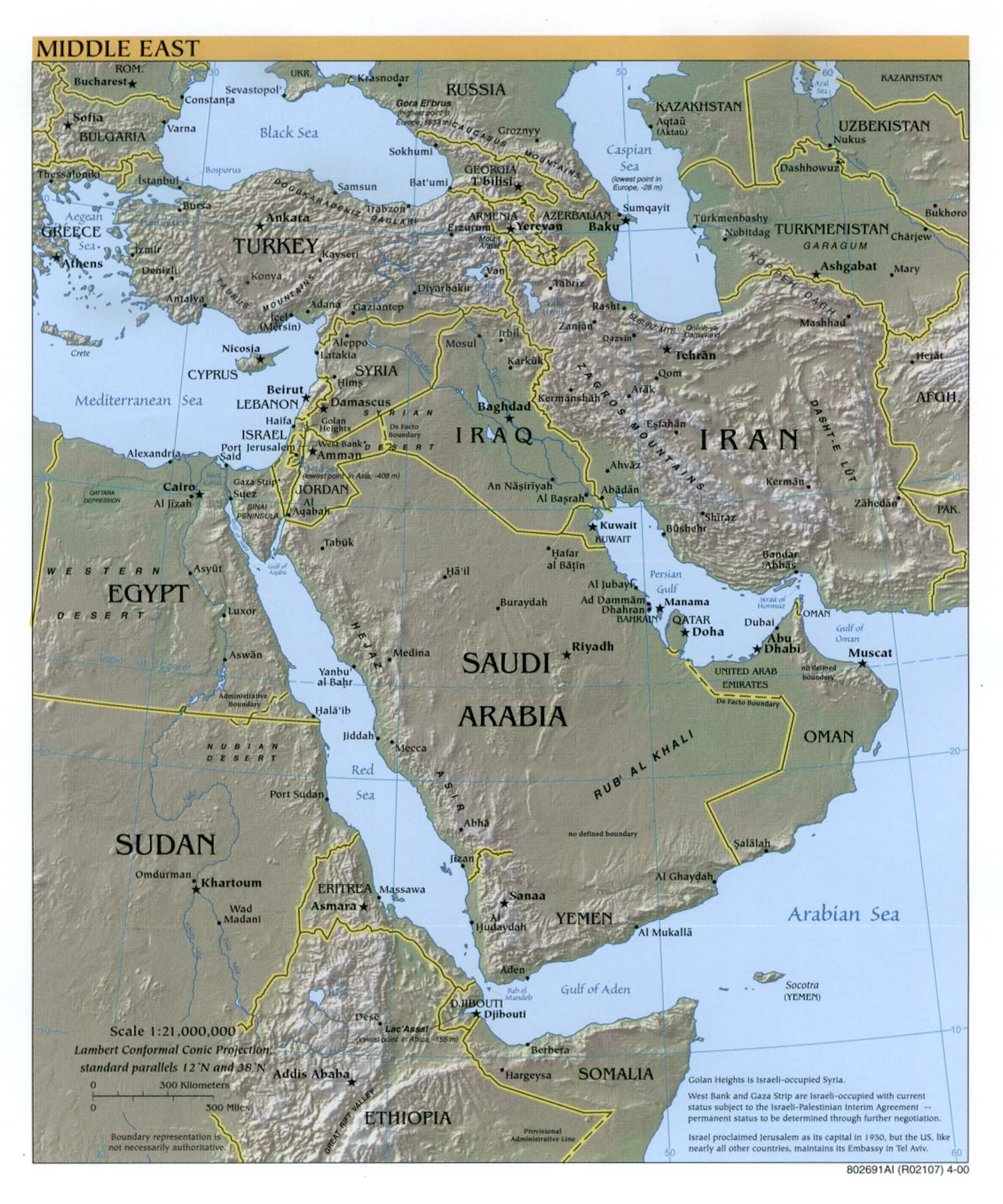 Middle East Maps PerryCastañeda Map Collection UT Library Online - Us political map 2000