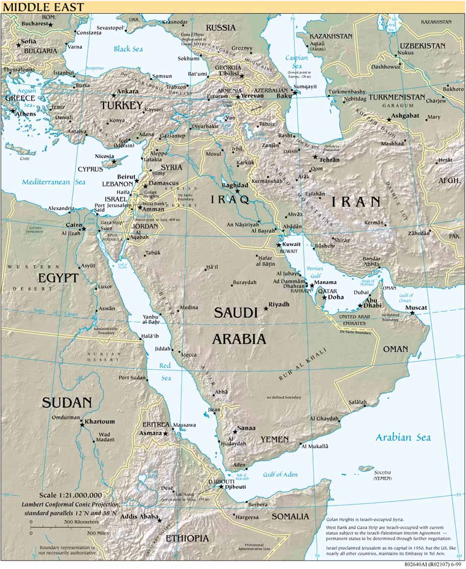 Middle east maps perry castaeda map collection ut library online middle east gumiabroncs Image collections