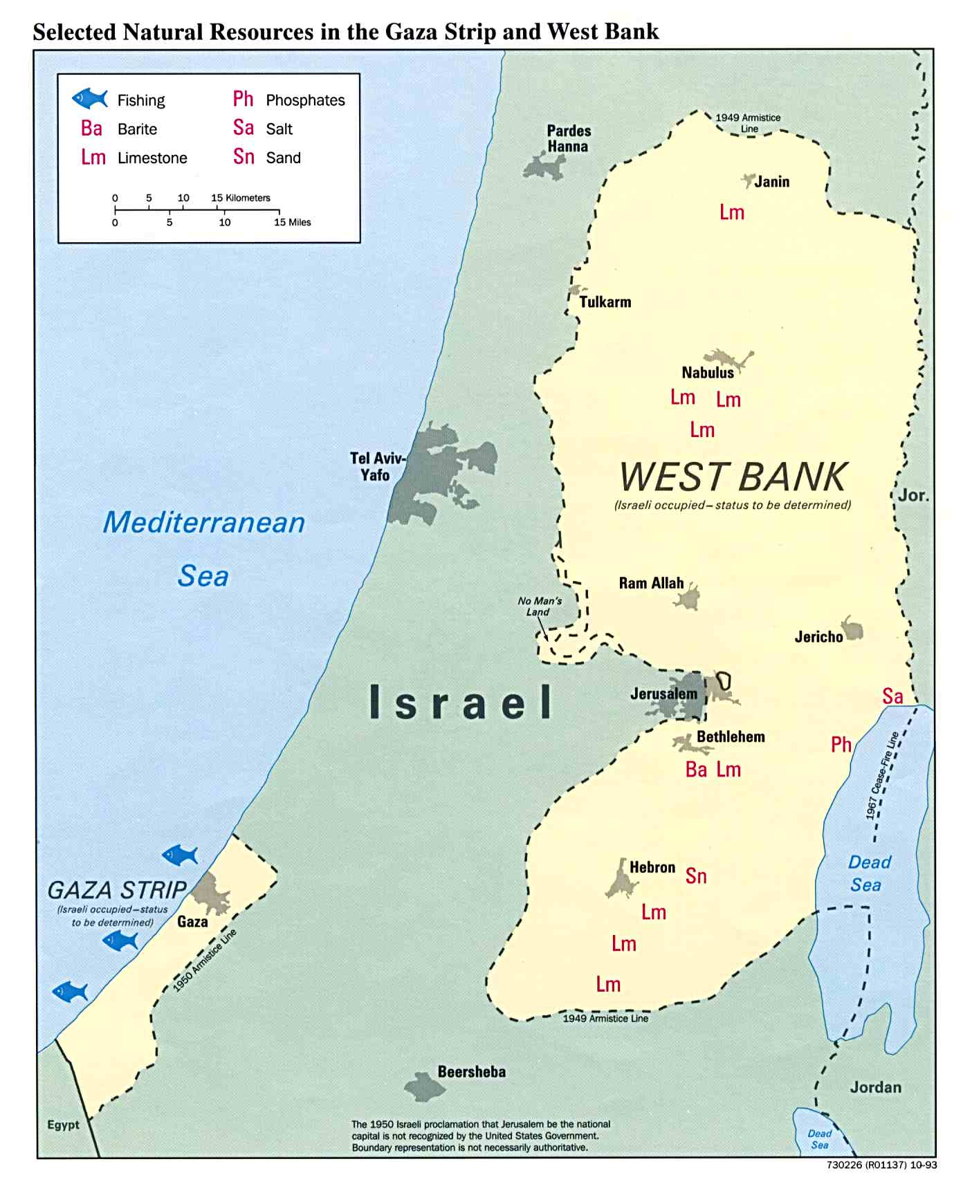 West Bank And Gaza Maps PerryCastañeda Map Collection UT - Map of egypt's natural resources