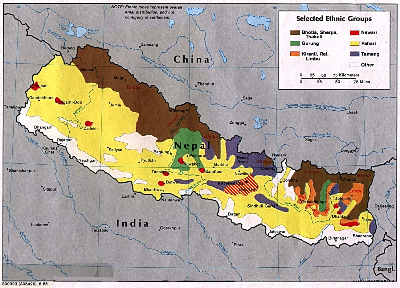essay on biodiversity in nepal map