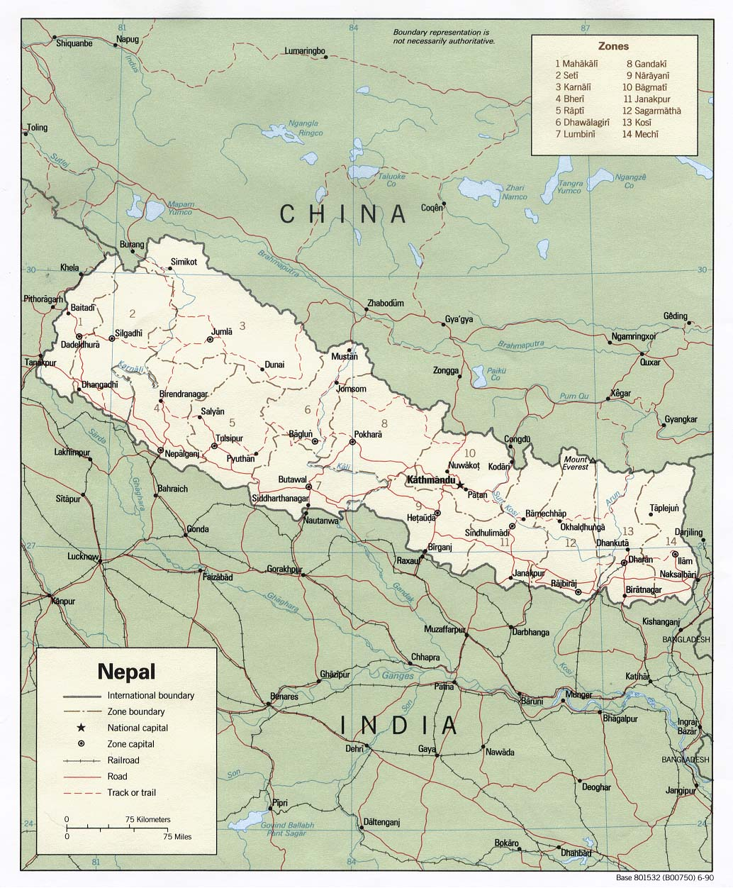 Nepal Maps - Perry-Castañeda Map Collection - UT Library Online