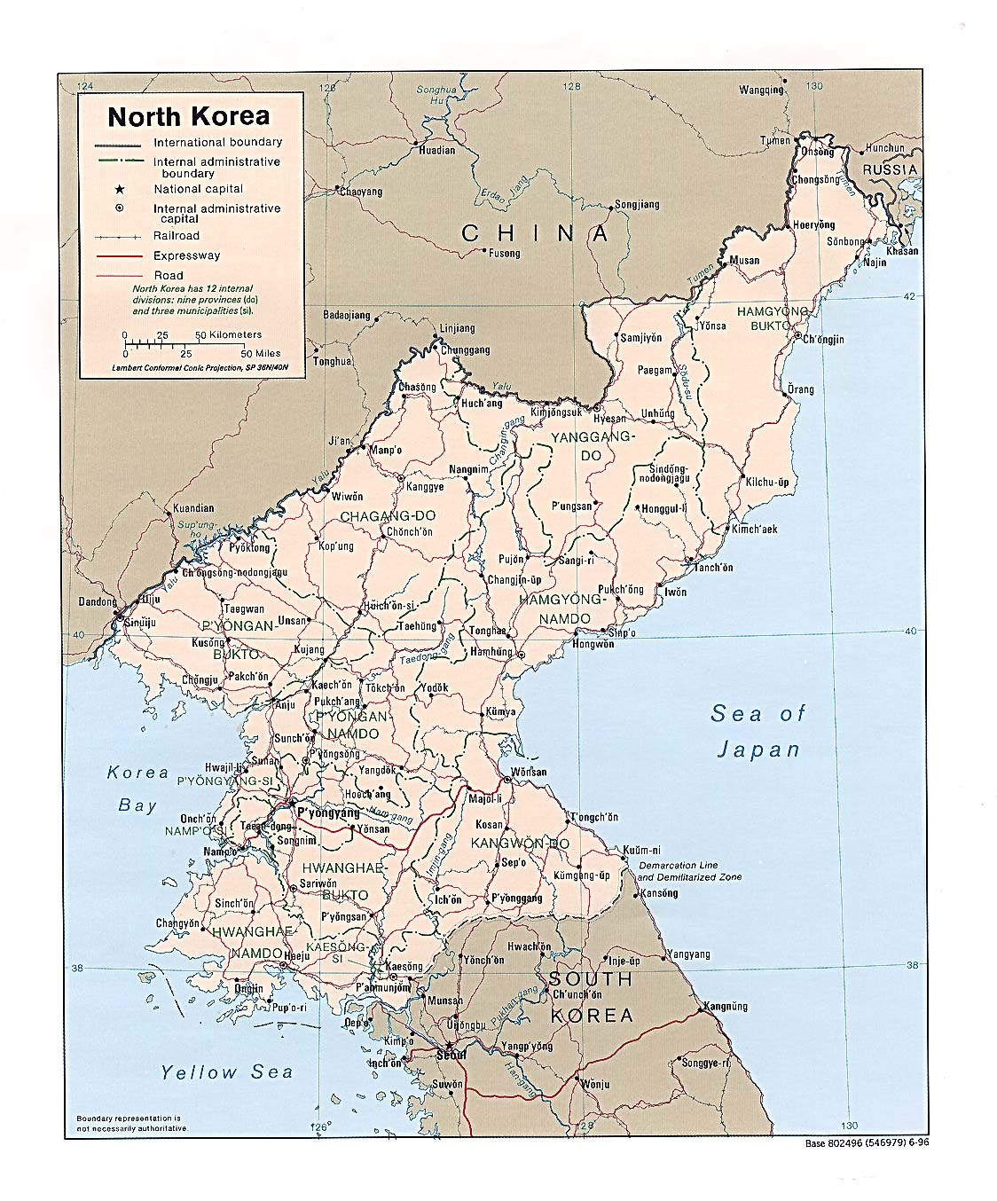 World Map North Korea