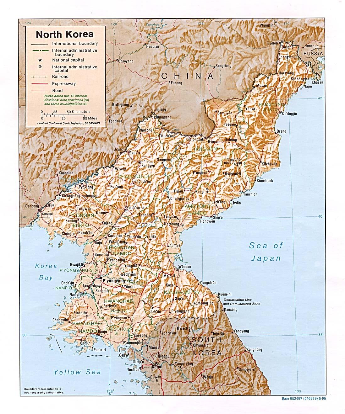 Korea maps