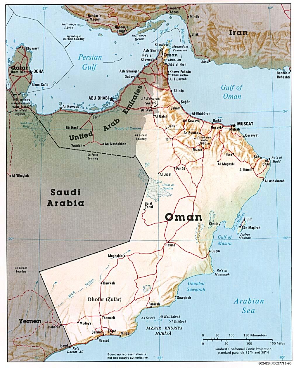 Karte Oman Salalah.Oman