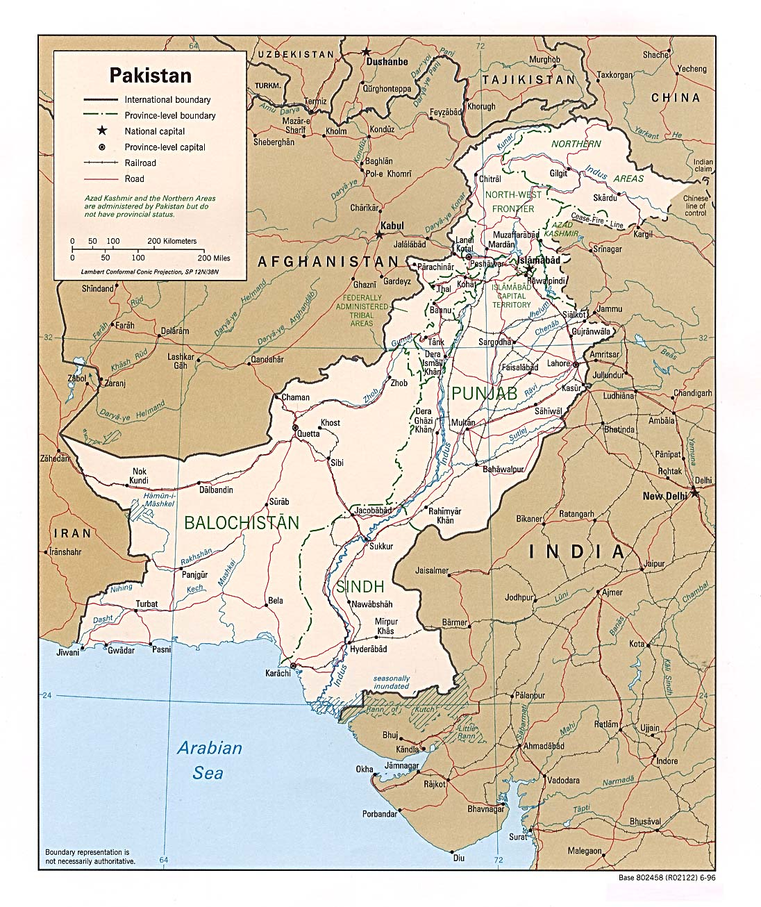 Pakistan Maps PerryCastañeda Map Collection UT Library Online - World map pakistan